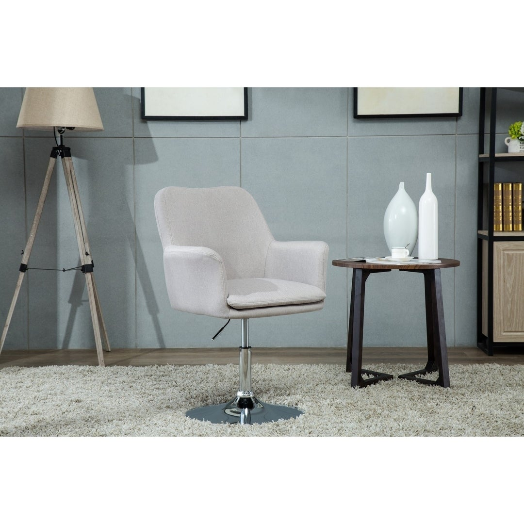 Porthos Home Fabric Pedestal Swivel Office Desk Chair With Padded Arms Free Shipping Today 20764273