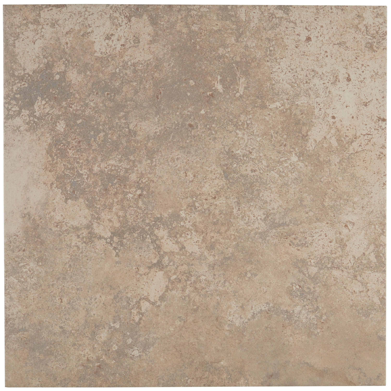 Shop Travertine Replica 18x18 Inch Ceramic Floor Tile In Dorian Grey