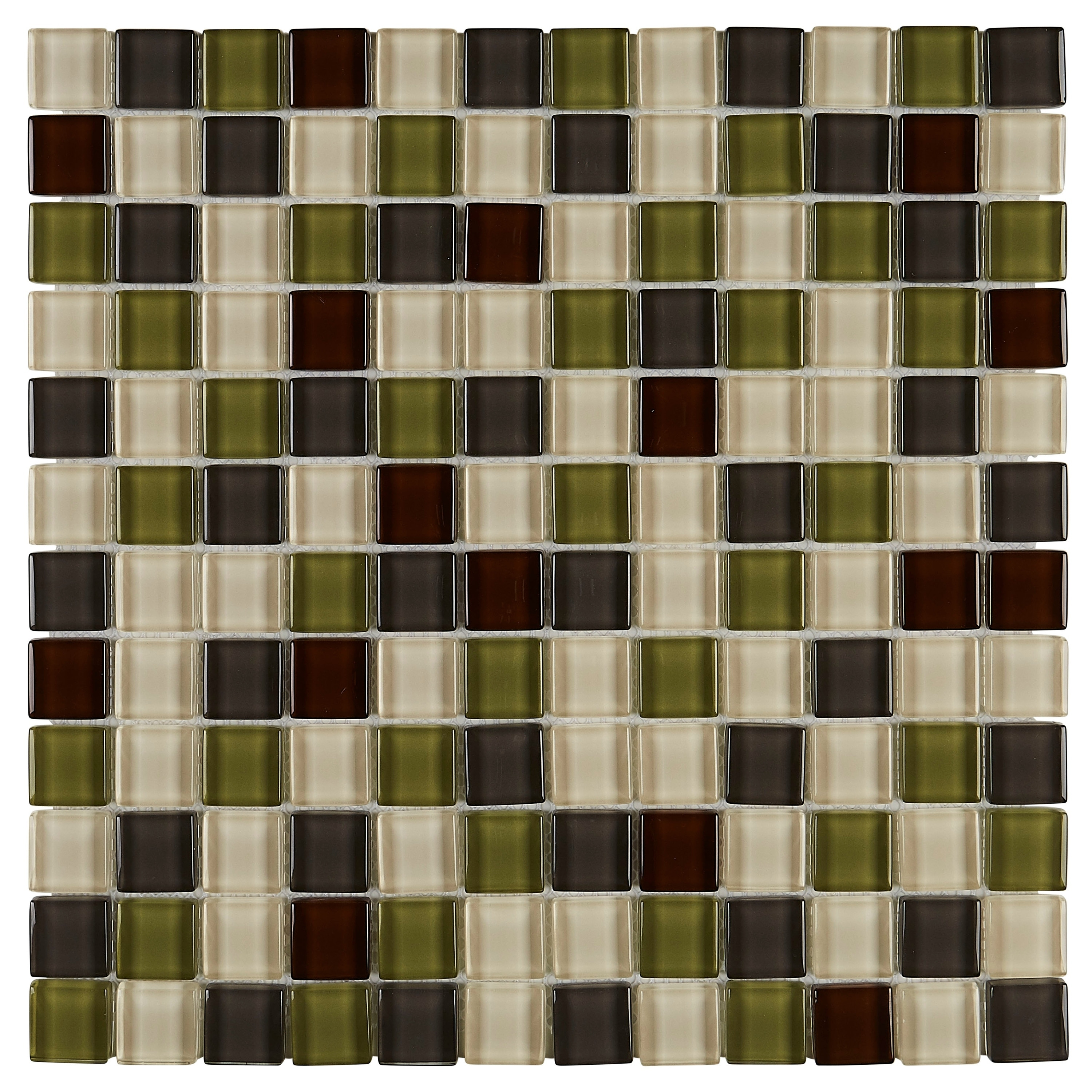 Shop Glass Accent 1x1 inch Mosaic Blend in