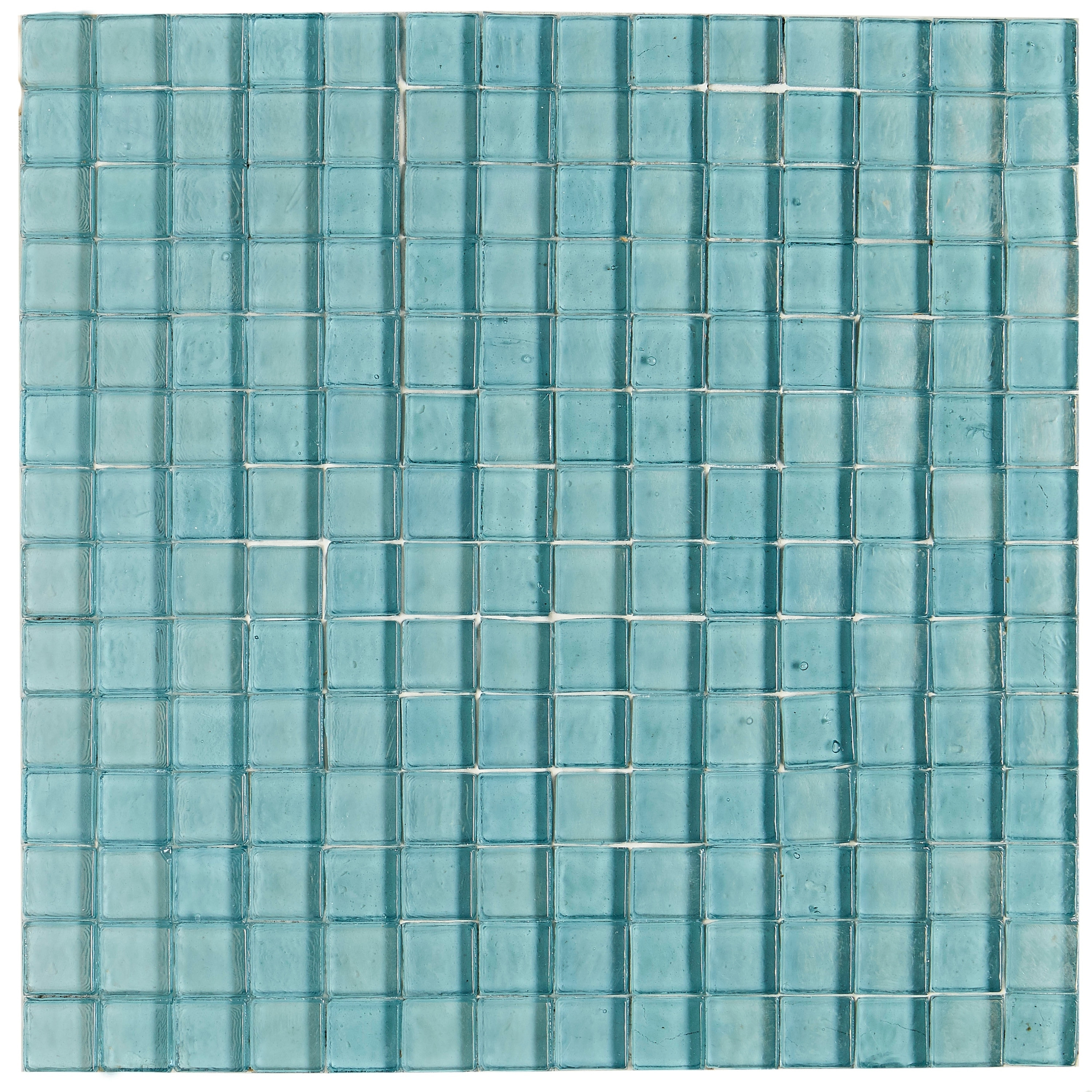 Shop Shimmering Iridescent Glass Tile 3/4x3/4-inch Mosaic in Sky ...