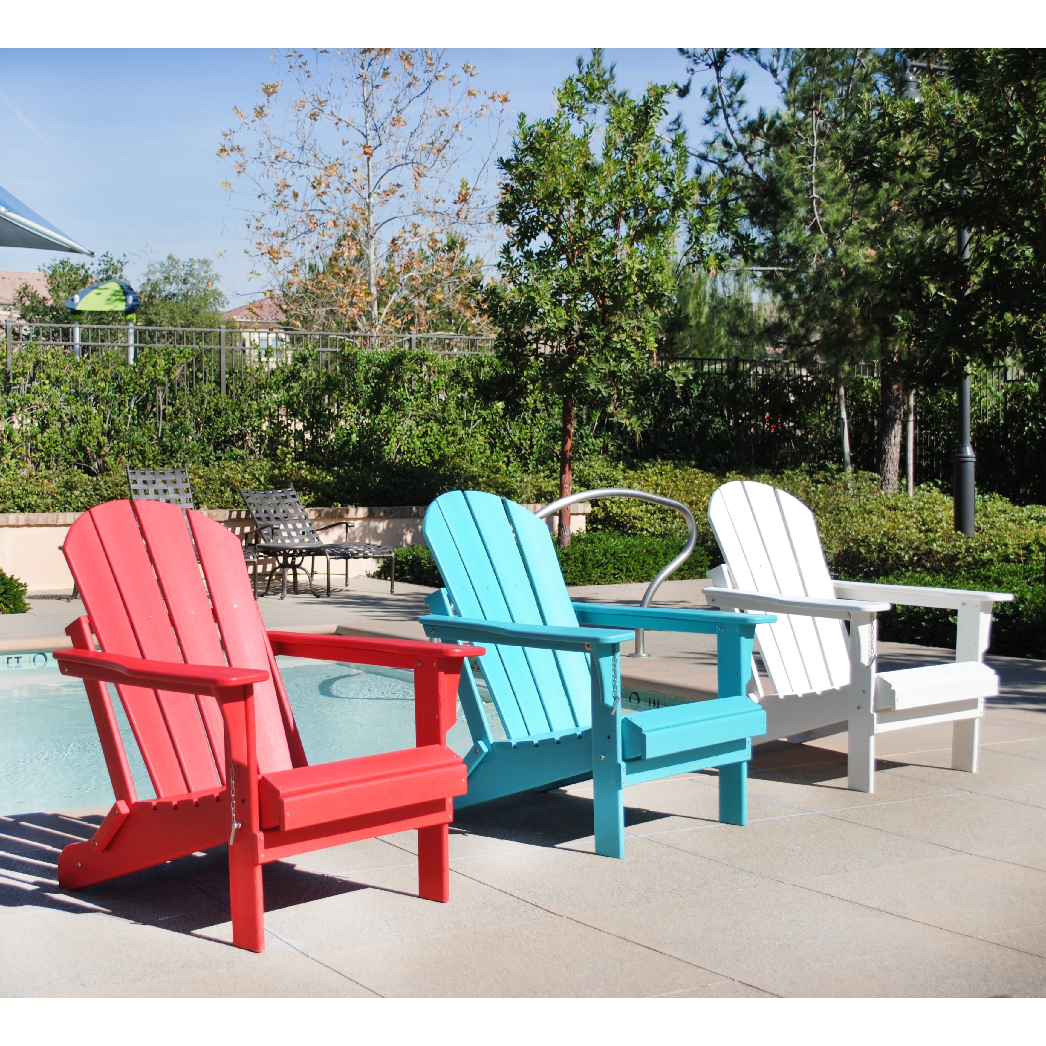 Shop Laguna Poly Adirondack Chair By Westin Outdoor   Free Shipping Today    Overstock.com   20785195