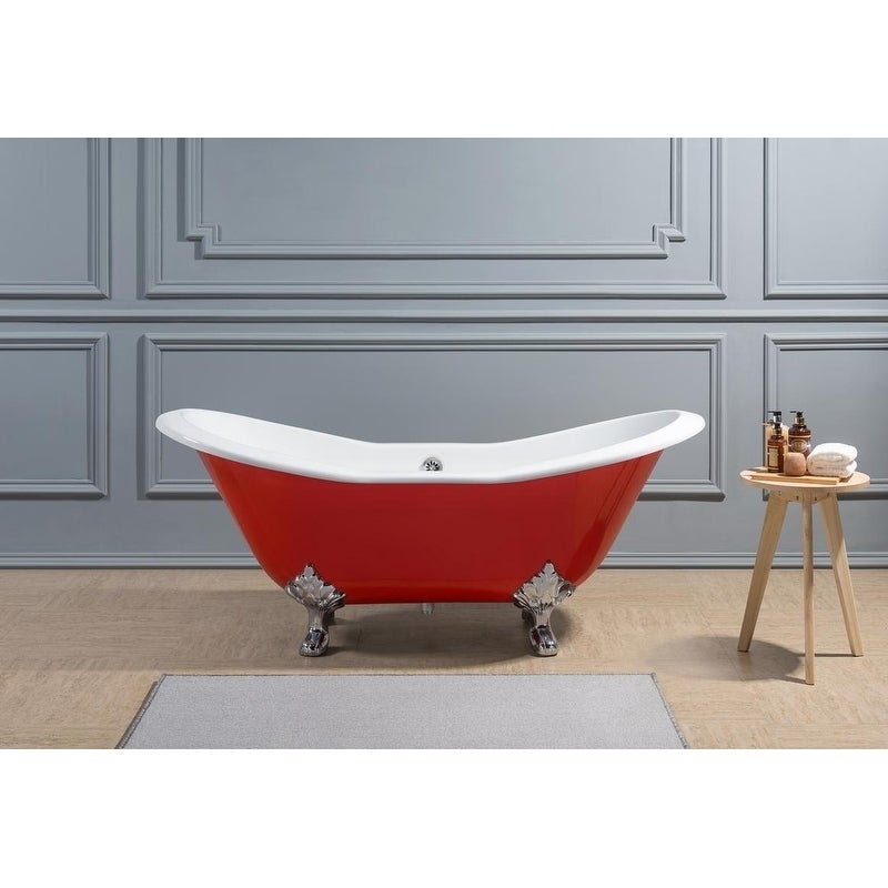 Colorful Old Cast Iron Tub Sketch - Bathtub Ideas - dilata.info
