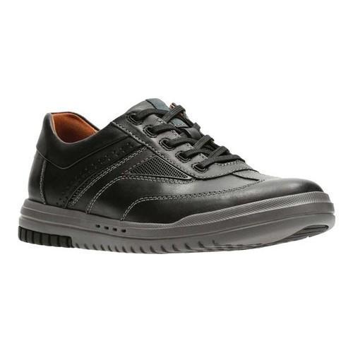 Men's Clarks UnRhombus Fly Sneaker Black Full Grain Leather/Synthetic