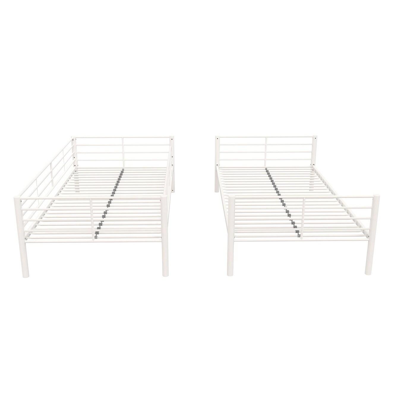Shop Avenue Greene Metal Twin Over Twin Convertible Bunk Bed Free