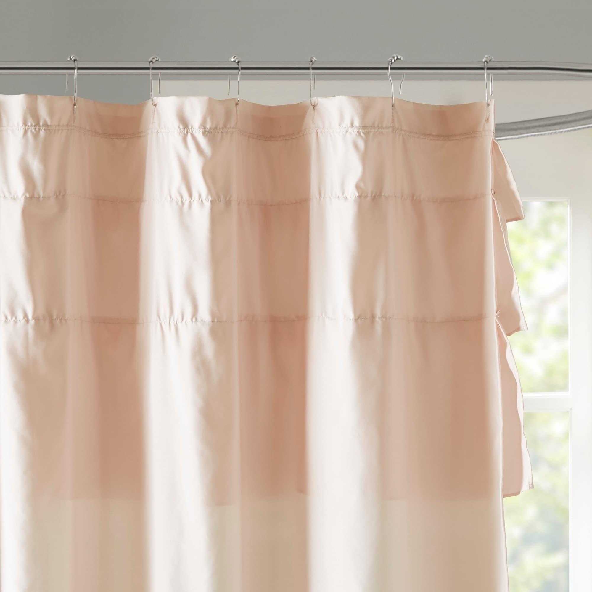 Shop Copper Grove Elora Ruffled Shower Curtain