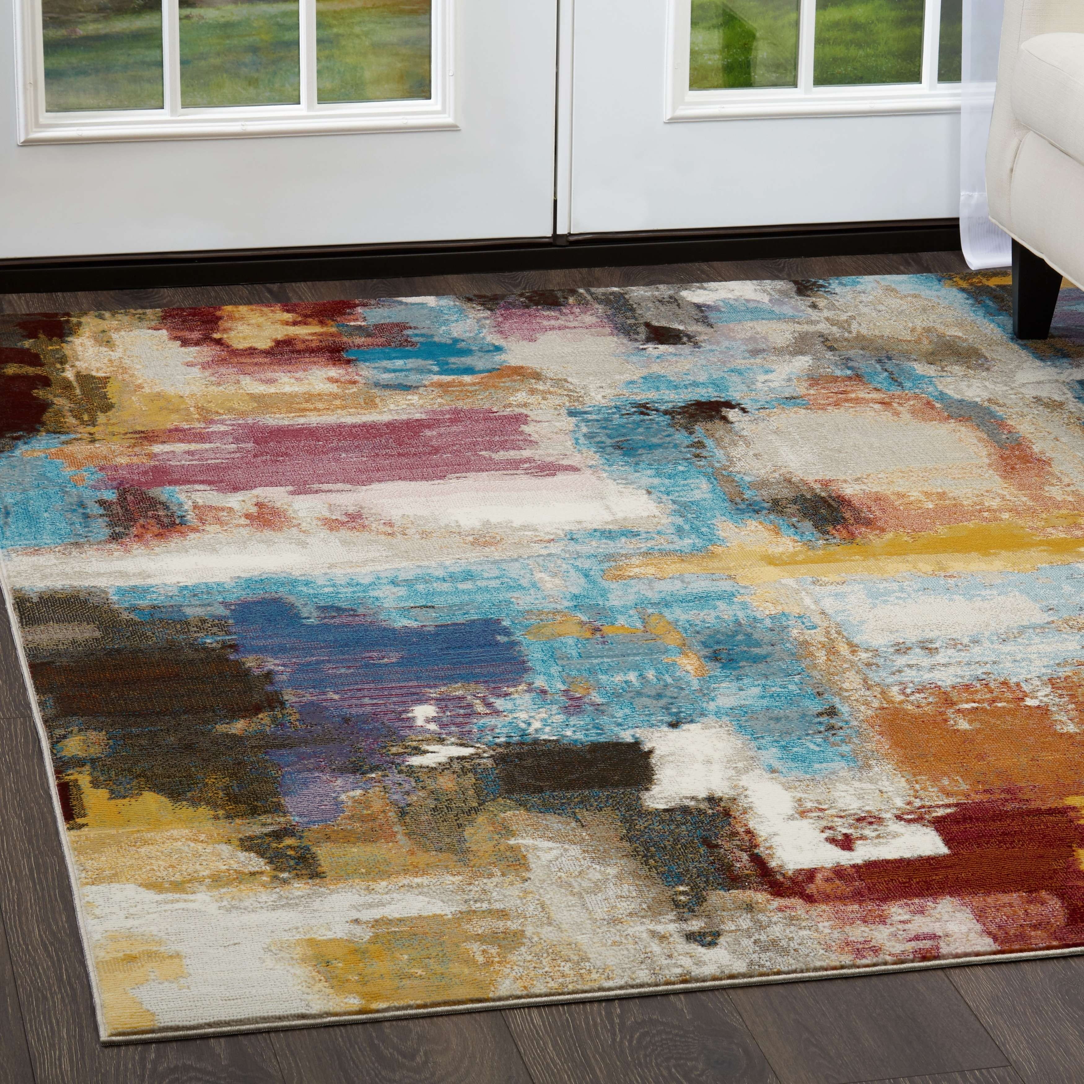 bordered artisan itm traditional ivory nicole miller rugs designer area carpet rug rouge