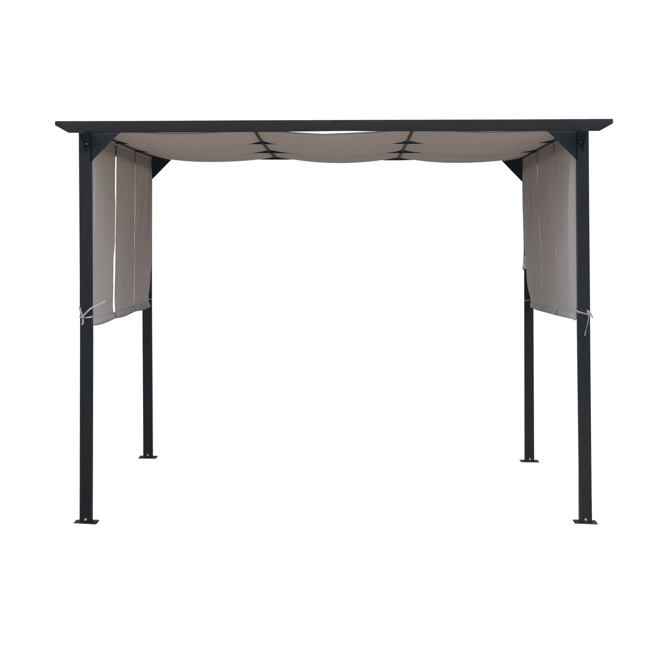 Lawrence Outdoor Steel 10-foot Gazebo by Christopher Knight Home ...