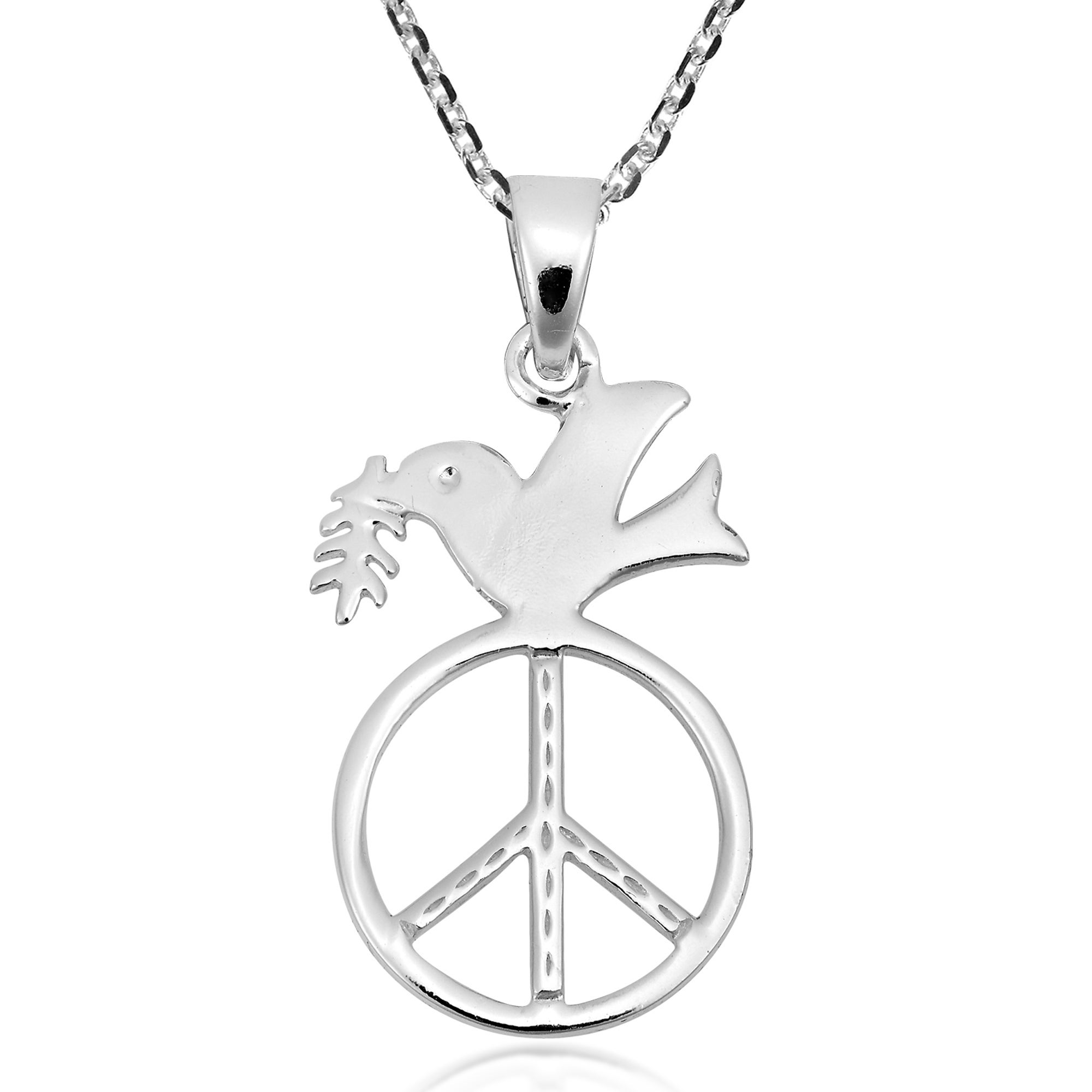sterling silver pendant expand to or ornament wallace rl christmas doves peace item full click