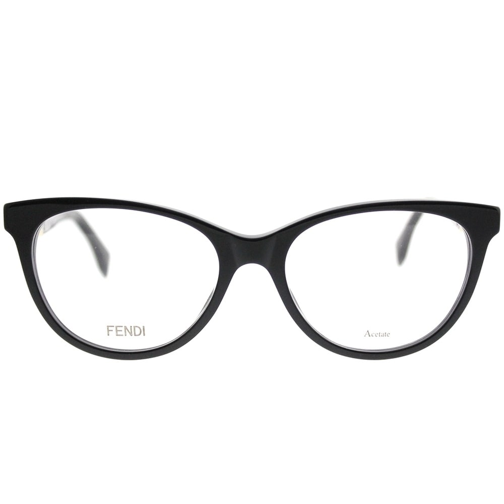 Shop Fendi Cat-Eye FF 0201 Fendi Cube 807 Women Black Frame ...