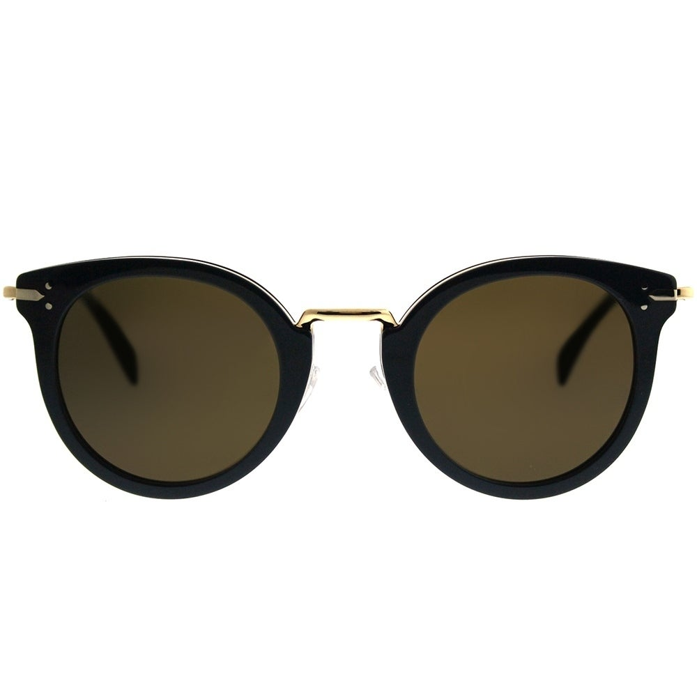 c9ec006ae271 Shop Celine Round CL 41373 Lea HDE EC Women Blue Gold Frame Brown Lens  Sunglasses - On Sale - Free Shipping Today - Overstock - 20836067