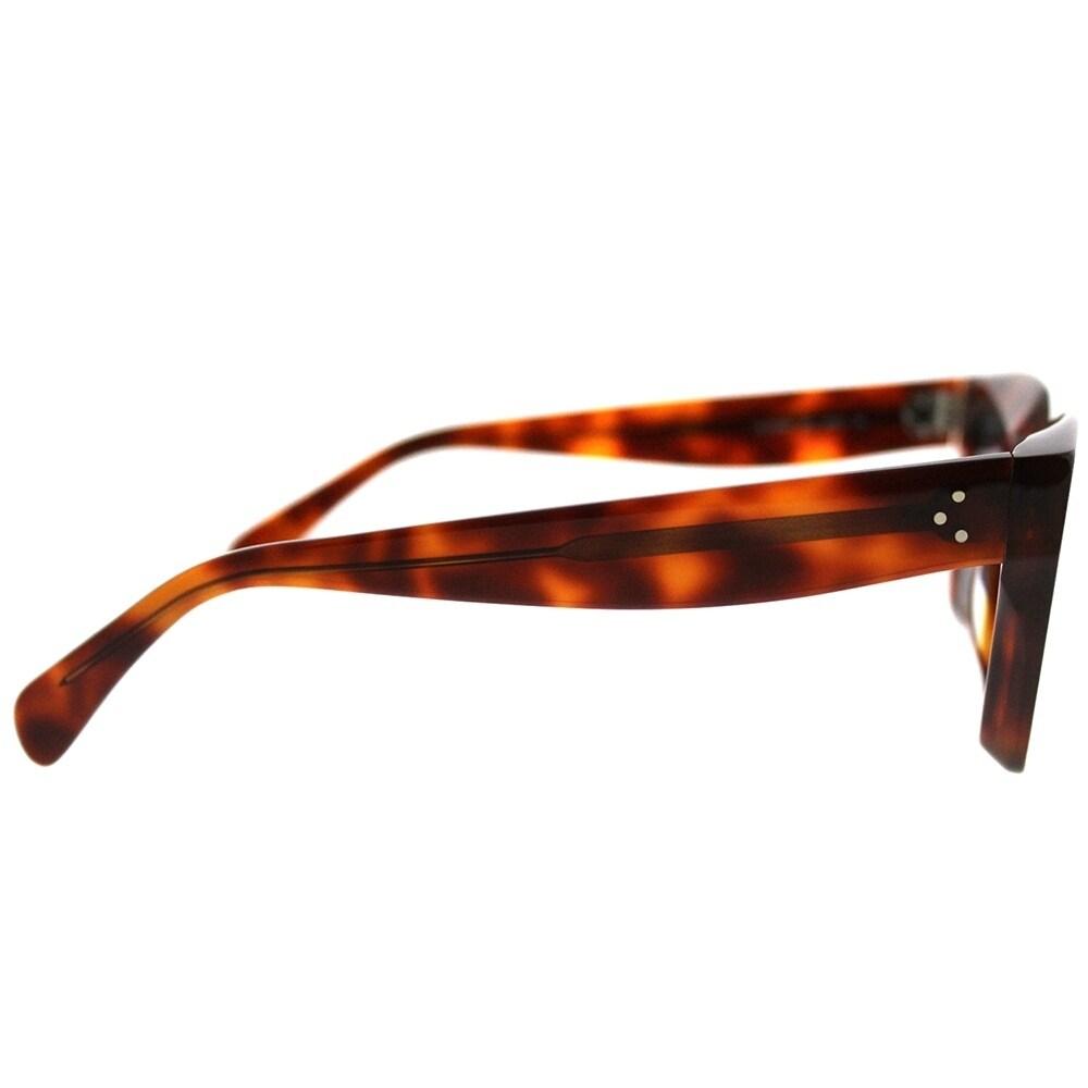 109e7880046 Shop Celine Square CL 41450 Kate 086 IR Women Dark Havana Frame Grey Lens  Sunglasses - Free Shipping Today - Overstock - 20836089
