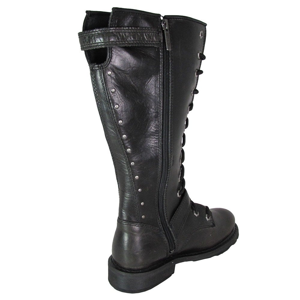 c91152c2e Shop Harley Davidson Womens Jill Tall Lace Up Motorcycle Boots - Free  Shipping Today - Overstock - 20836212