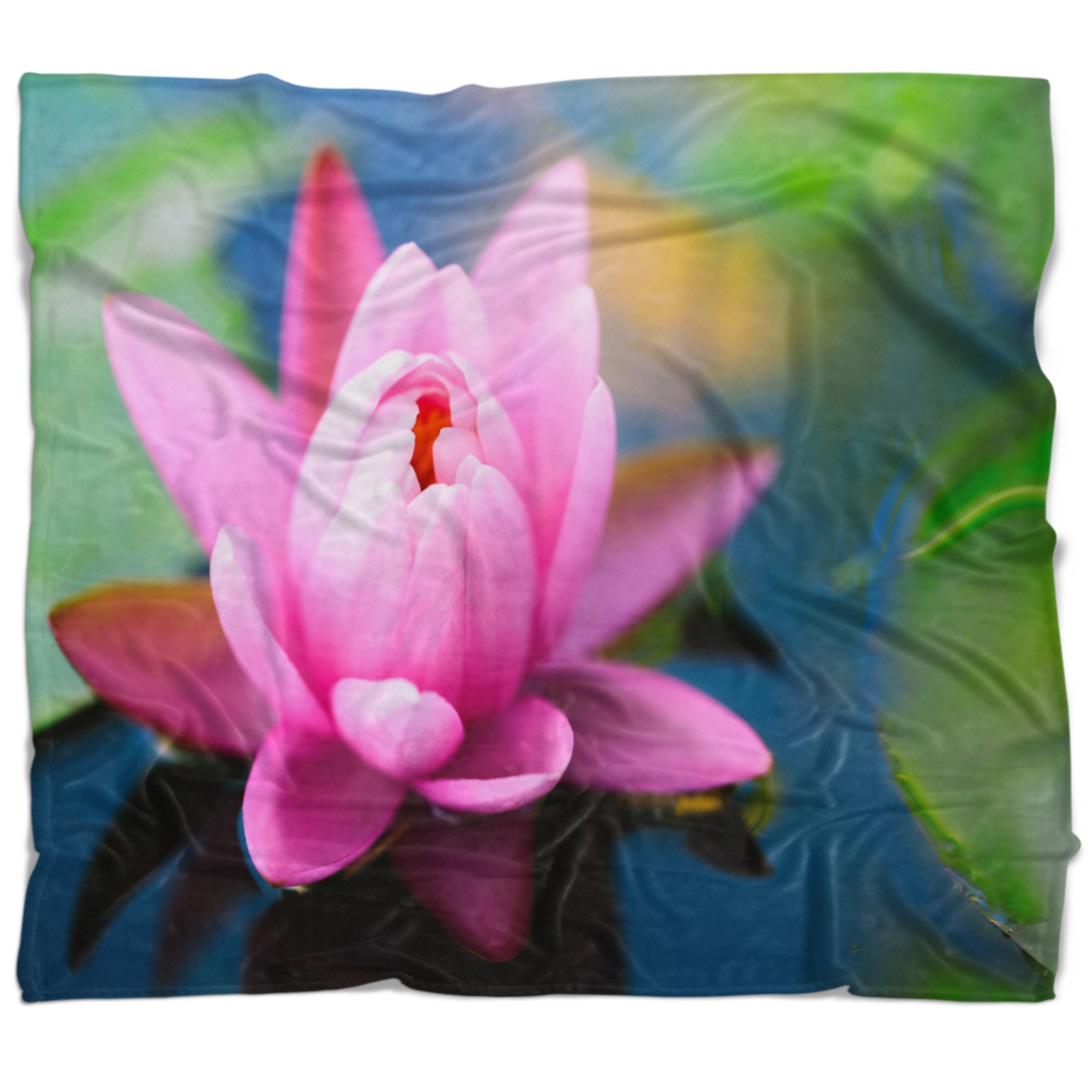 Designart Large Lotus Flower In The Pond Floral Throw Blanket