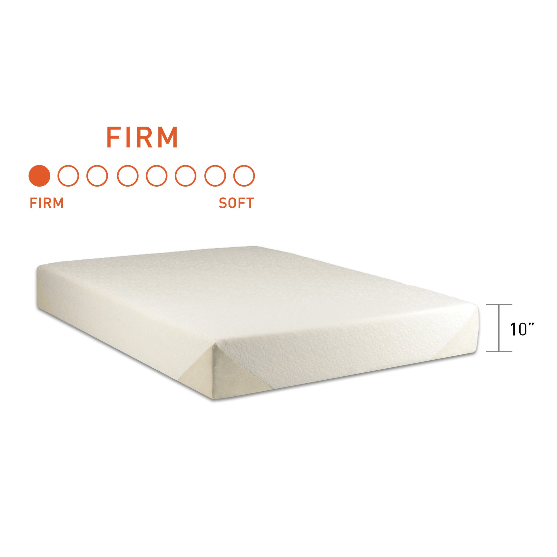 tempur contour select 10 inch king size extra firm mattress free shipping today overstockcom 26658198 - Extra Firm Mattress
