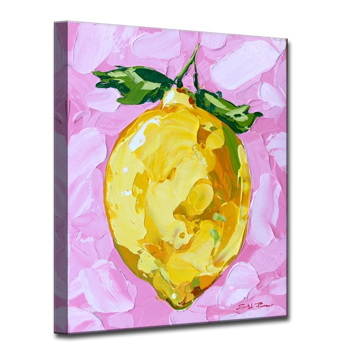 Shop Ready2HangArt \'Pink Lemonade\' Canvas Wall Decor - Pink - On ...