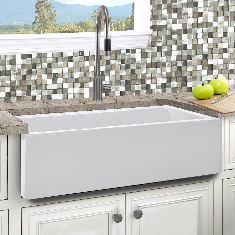 Italian Fireclay 33-inch Reversible Farmhouse Kitchen Sink - Free ...
