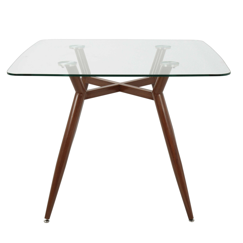 Shop Clara MidCentury Modern Square Dining Table Free Shipping - Mid century square dining table