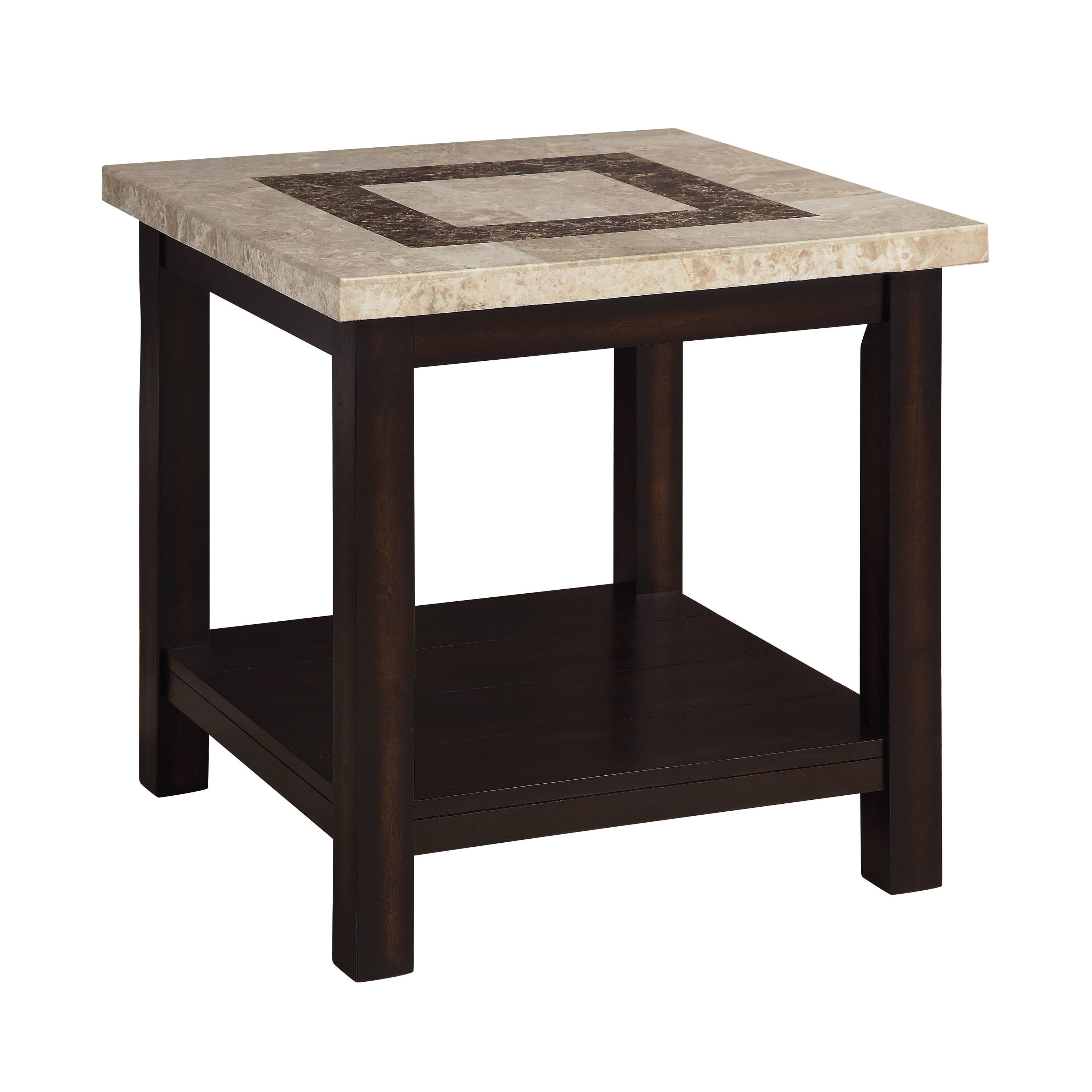 Shop furniture of america calgary genuine marble end table free shipping today overstock com 20853036