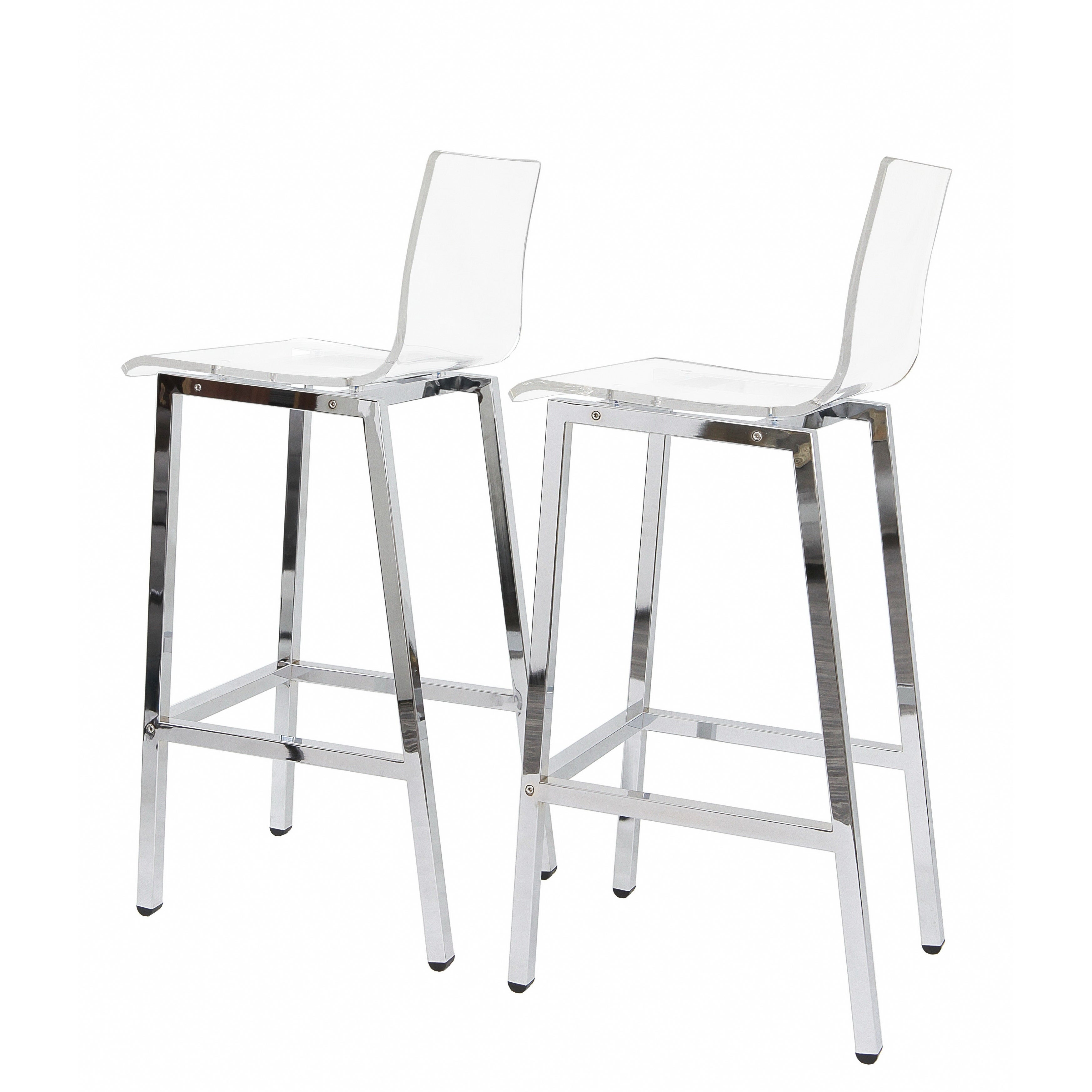 Shop Acrylic Bar Stool Set Of Two On Sale Free Shipping Today