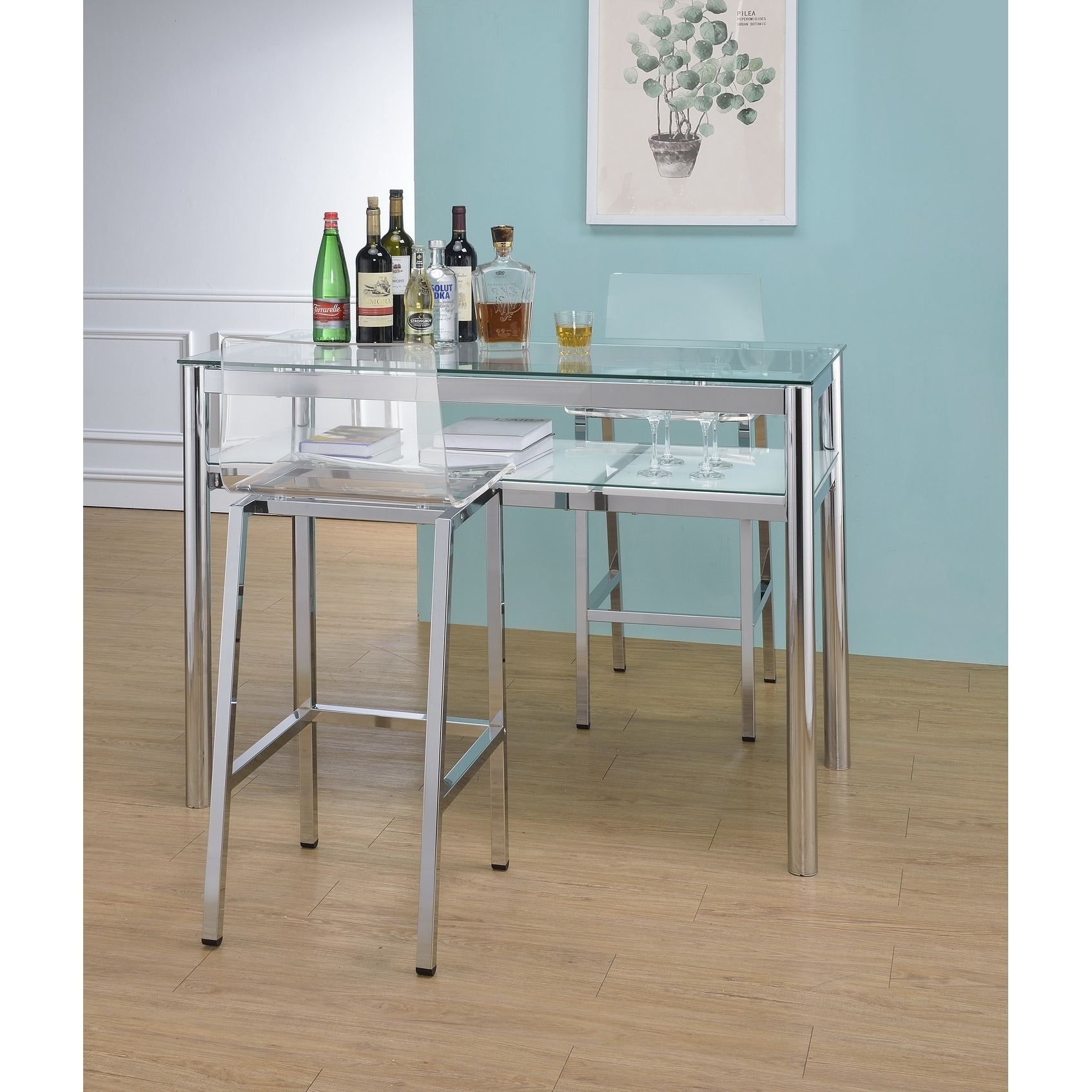 Shop Acrylic Bar Stool - Set of Two - On Sale - Free Shipping Today ...