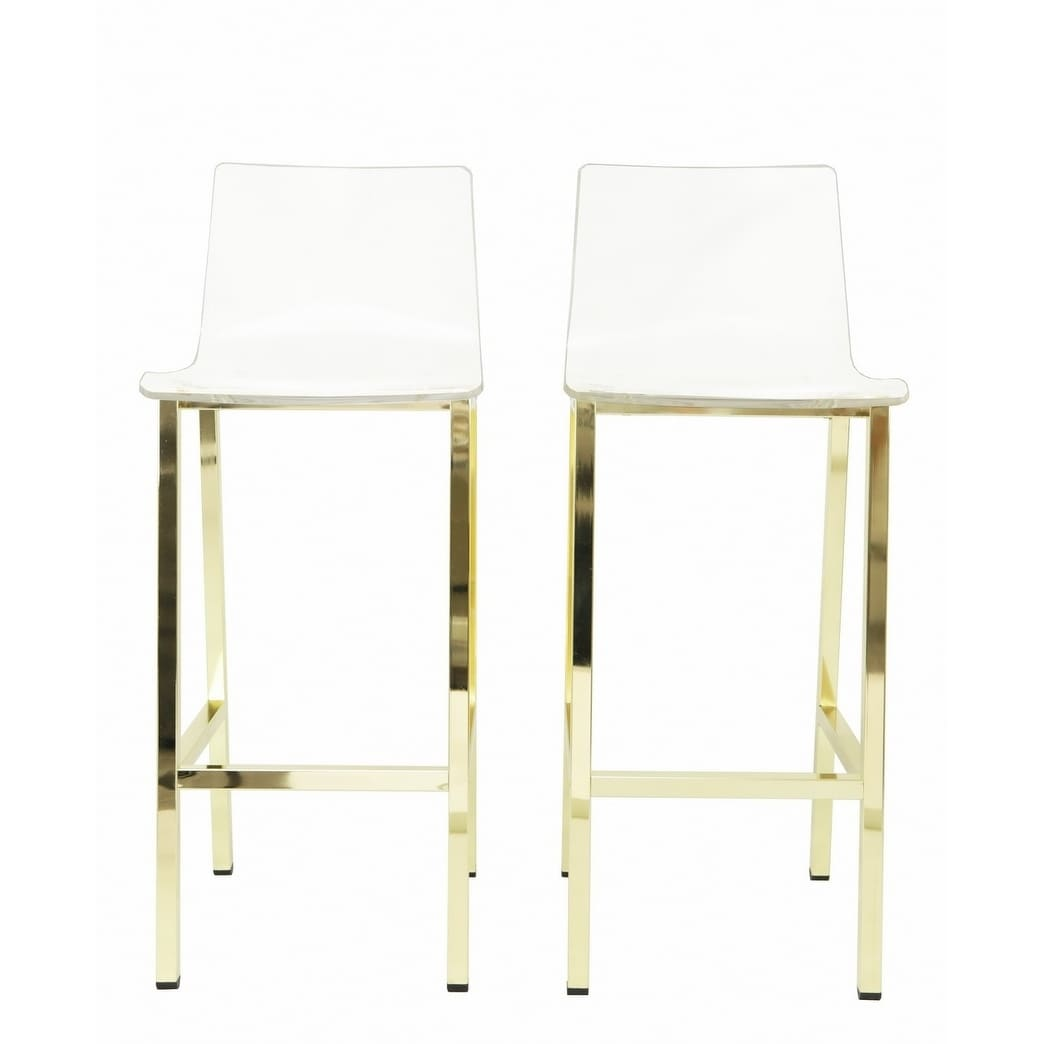 Shop acrylic bar stool set of two on sale free shipping today overstock com 20862045