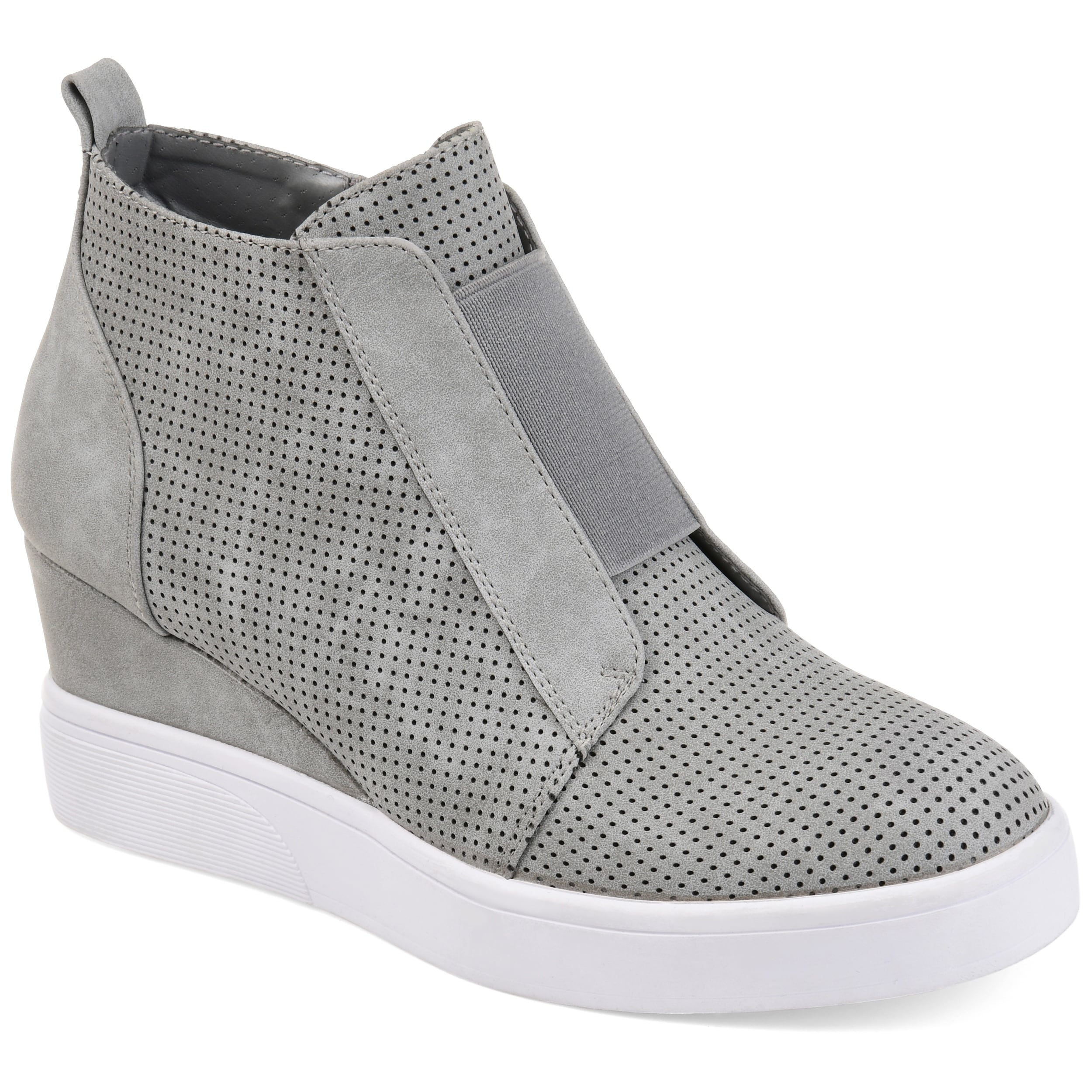2dc0eab74b4 Shop Journee Collection Women s  Clara  Athleisure Laser-cut Sneaker Wedges  - Free Shipping Today - Overstock - 20874053