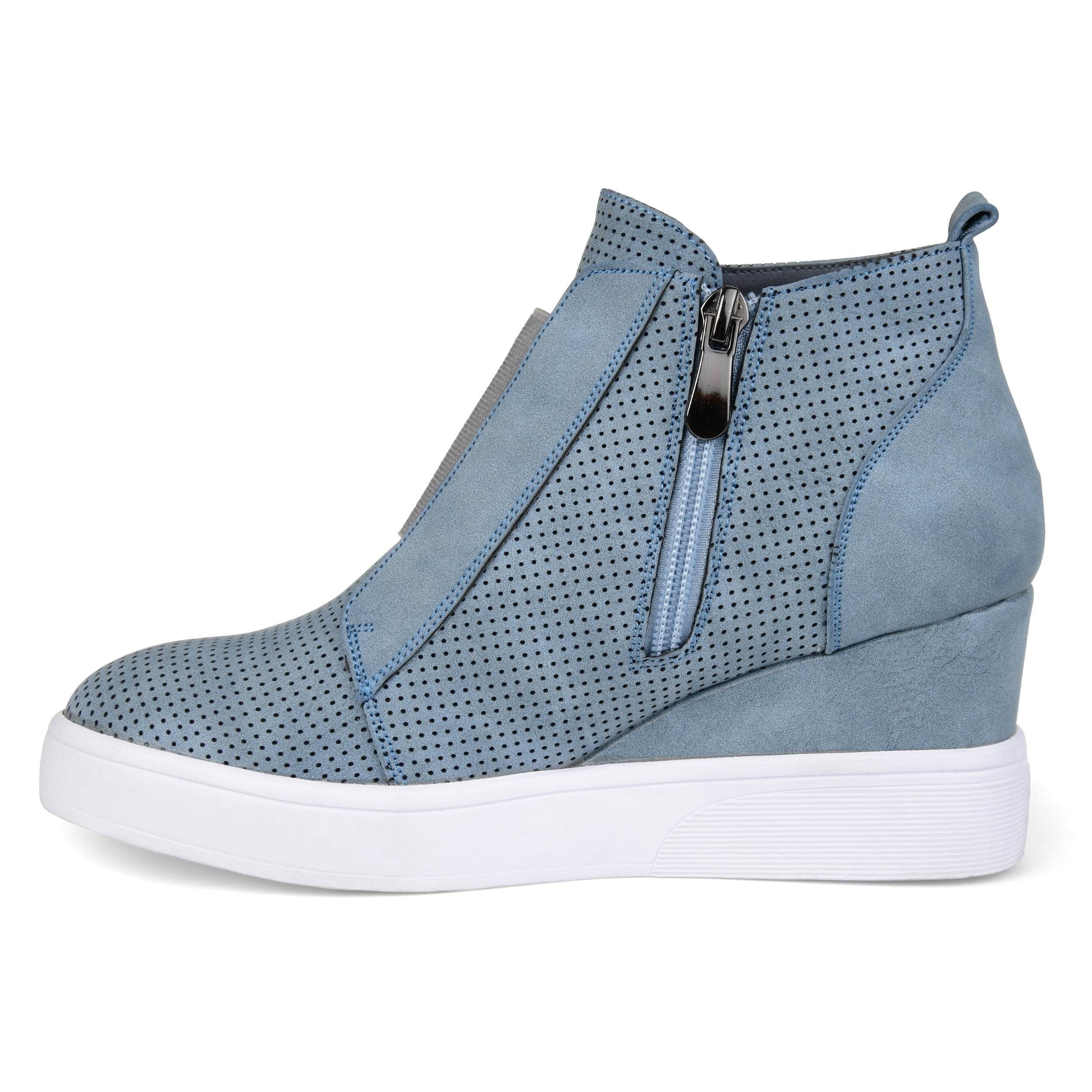 28e4f7bb37 Shop Journee Collection Women's 'Clara' Athleisure Laser-cut Sneaker Wedges  - Free Shipping Today - Overstock - 20874053