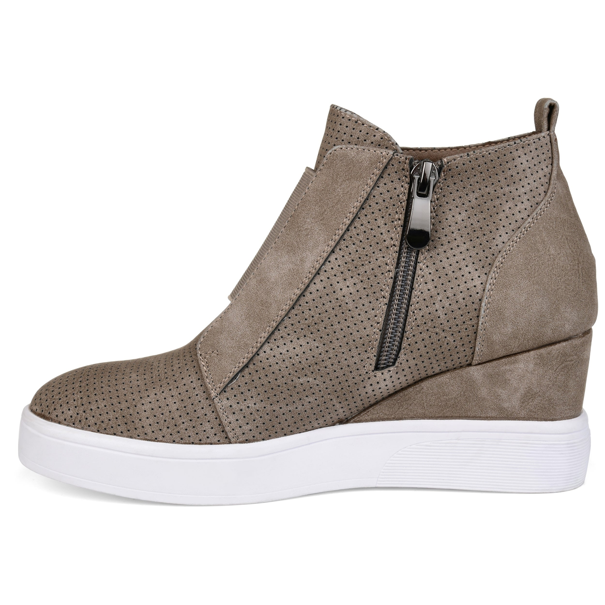6158d2ec948 Shop Journee Collection Women s  Clara  Athleisure Laser-cut Sneaker Wedges  - On Sale - Free Shipping Today - Overstock - 20874053