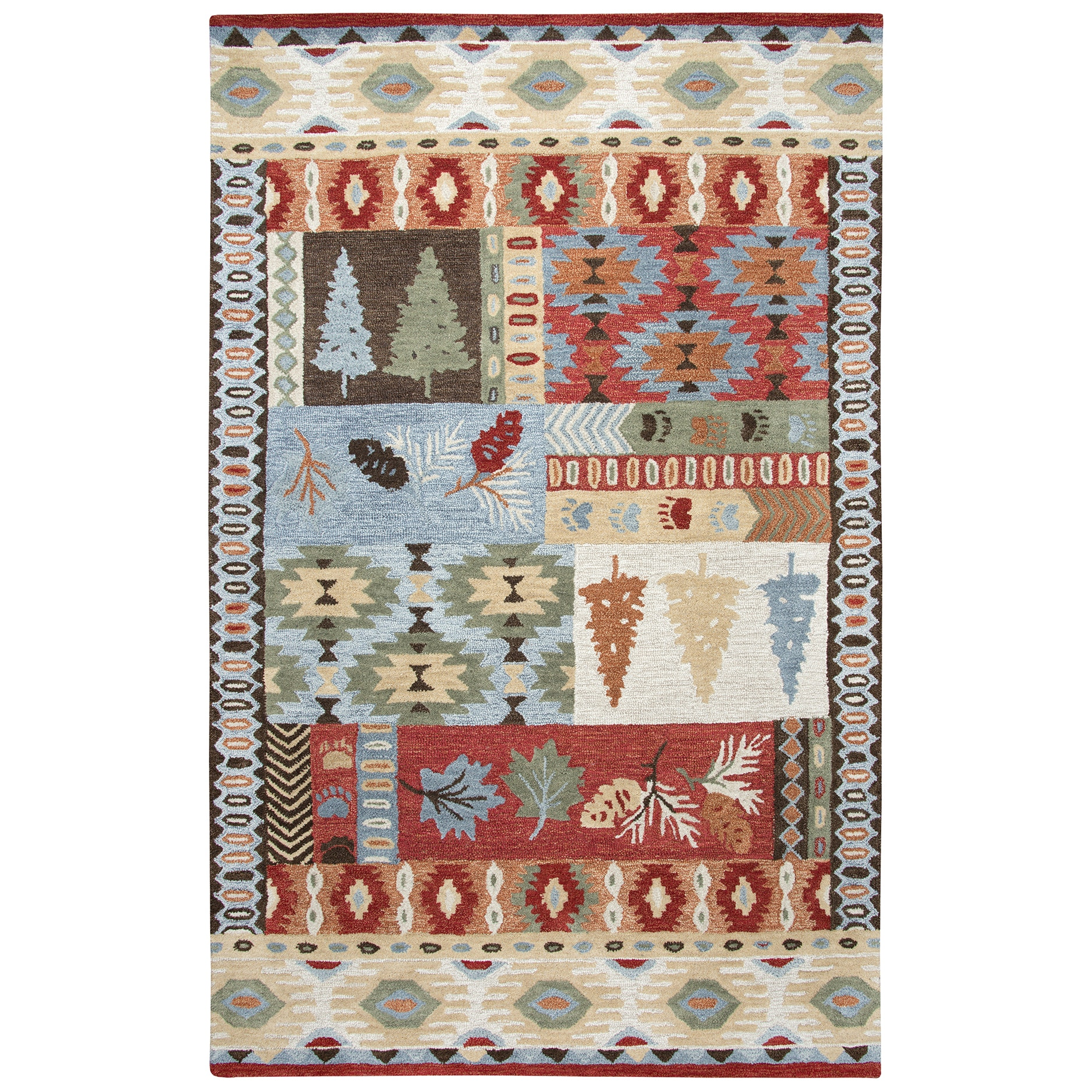 Rizzy Home Northwoods Area Rug Size Red 5 X 8
