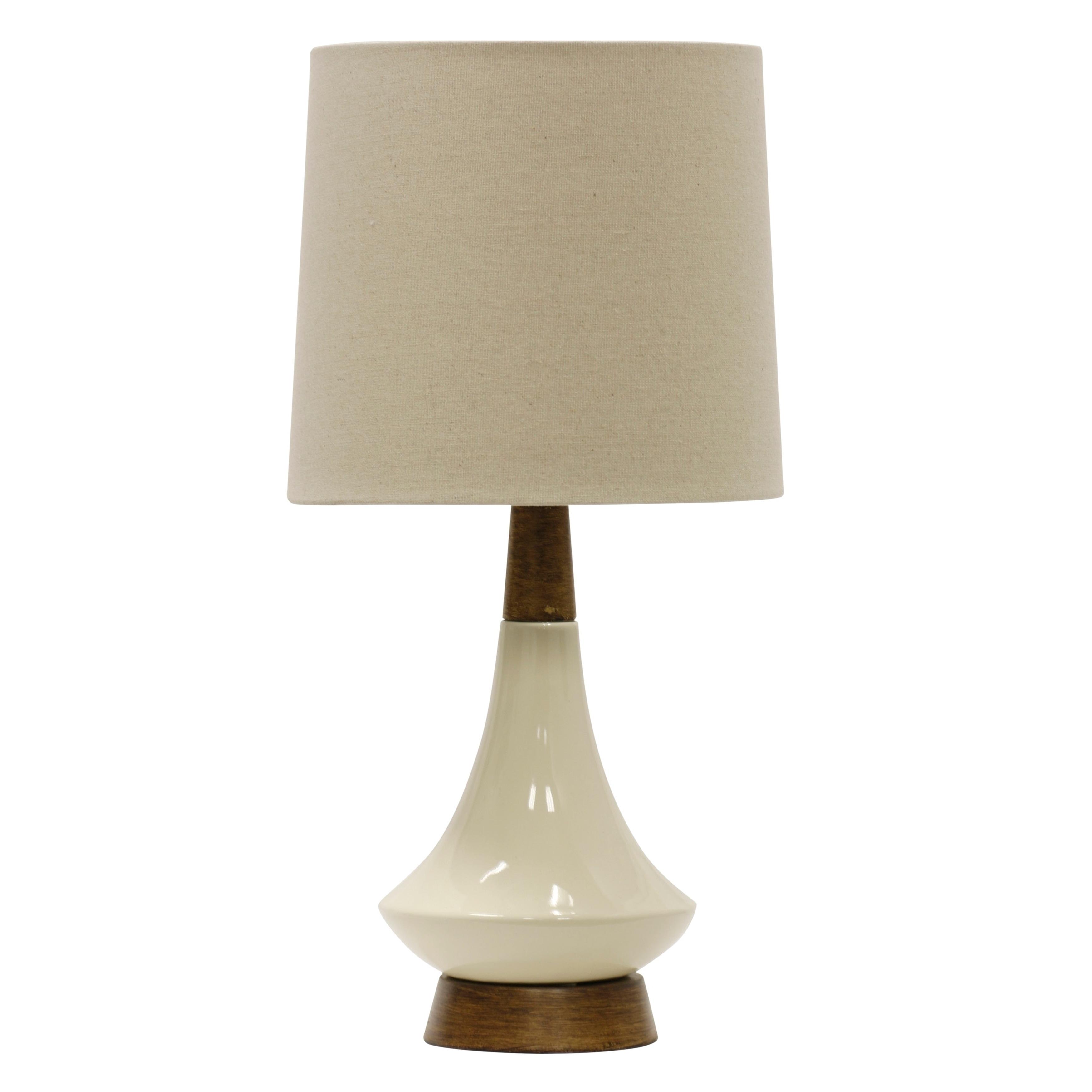 Shop White Washed Wood Cream Ceramic Table Lamp White Hardback