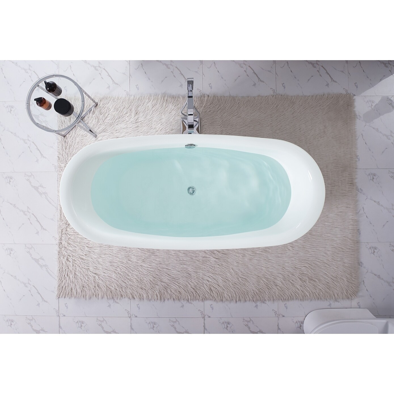 Shop Swiss Madison Ivy® Acrylic Double Slipper Freestanding Bathtub ...