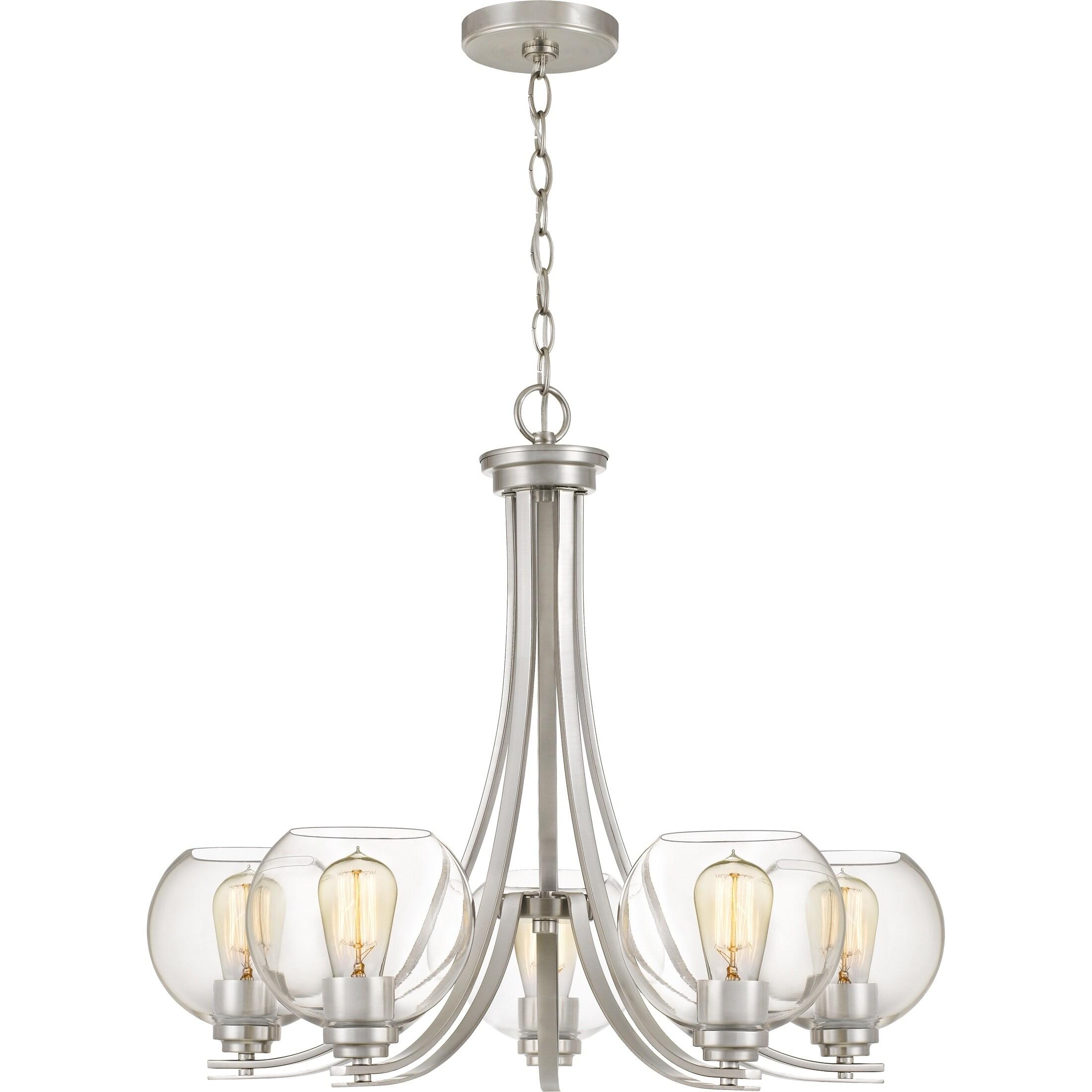 clear lights dsc pop glass chandelier mega products