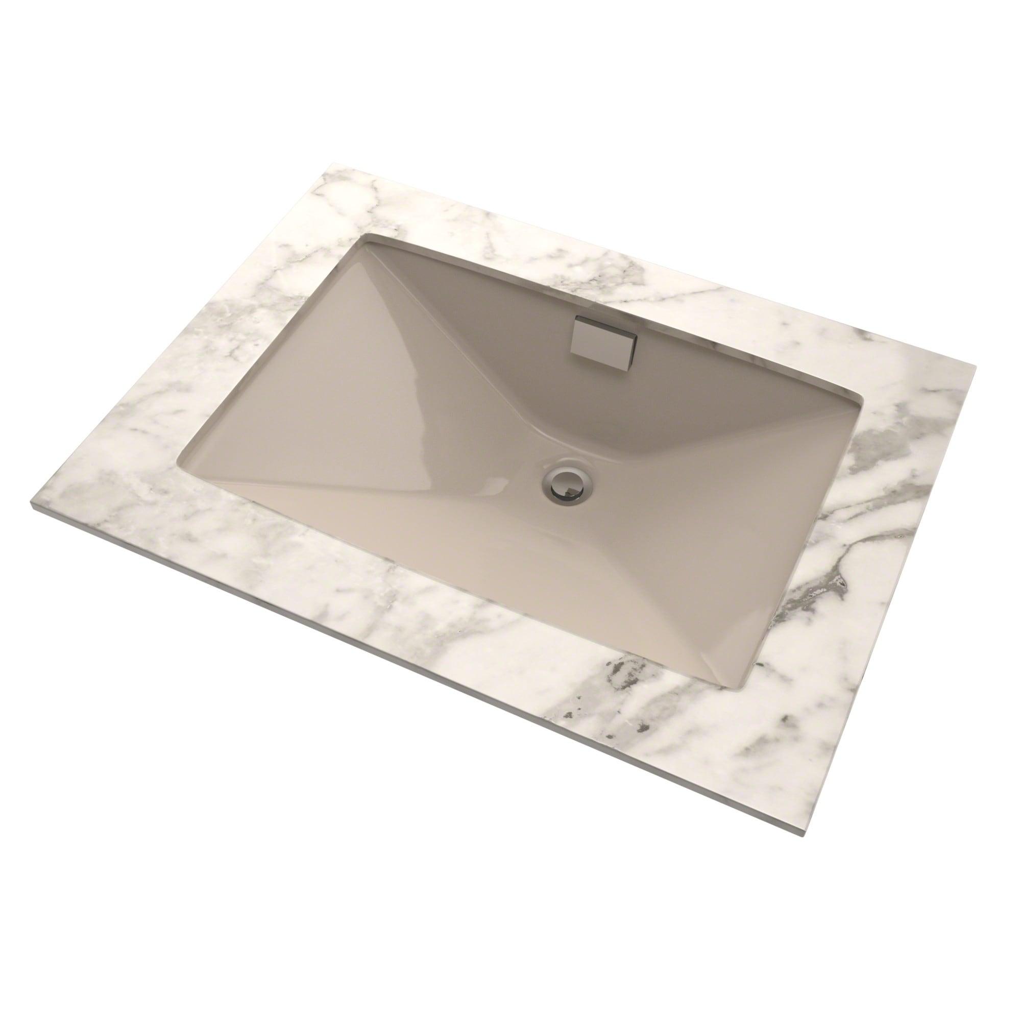 Shop TOTO® Lloyd® Rectangular Undermount Bathroom Sink, Bone - LT931 ...