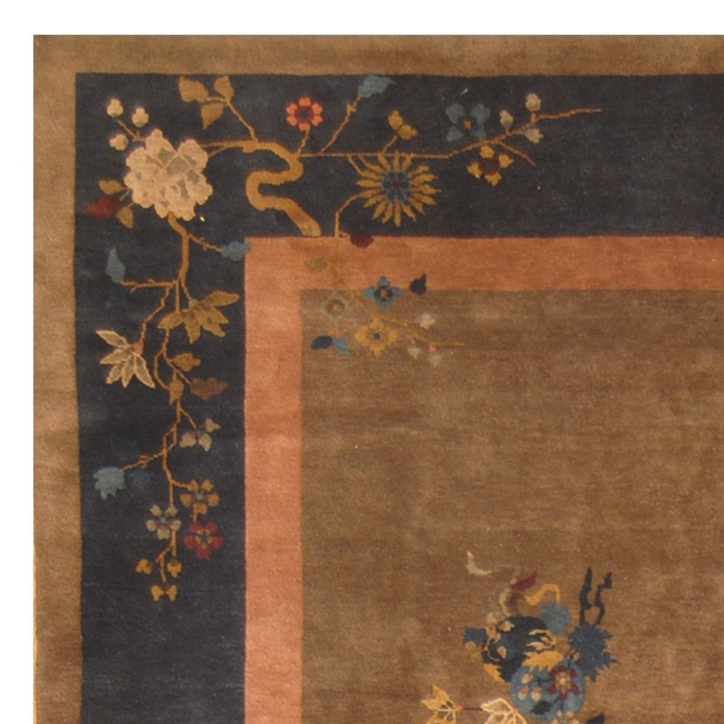 849f8a362312 Handmade Herat Oriental Chinese Hand-knotted Antique Art Deco 1920 s Wool  Rug (China) - 8 9 x 11 7