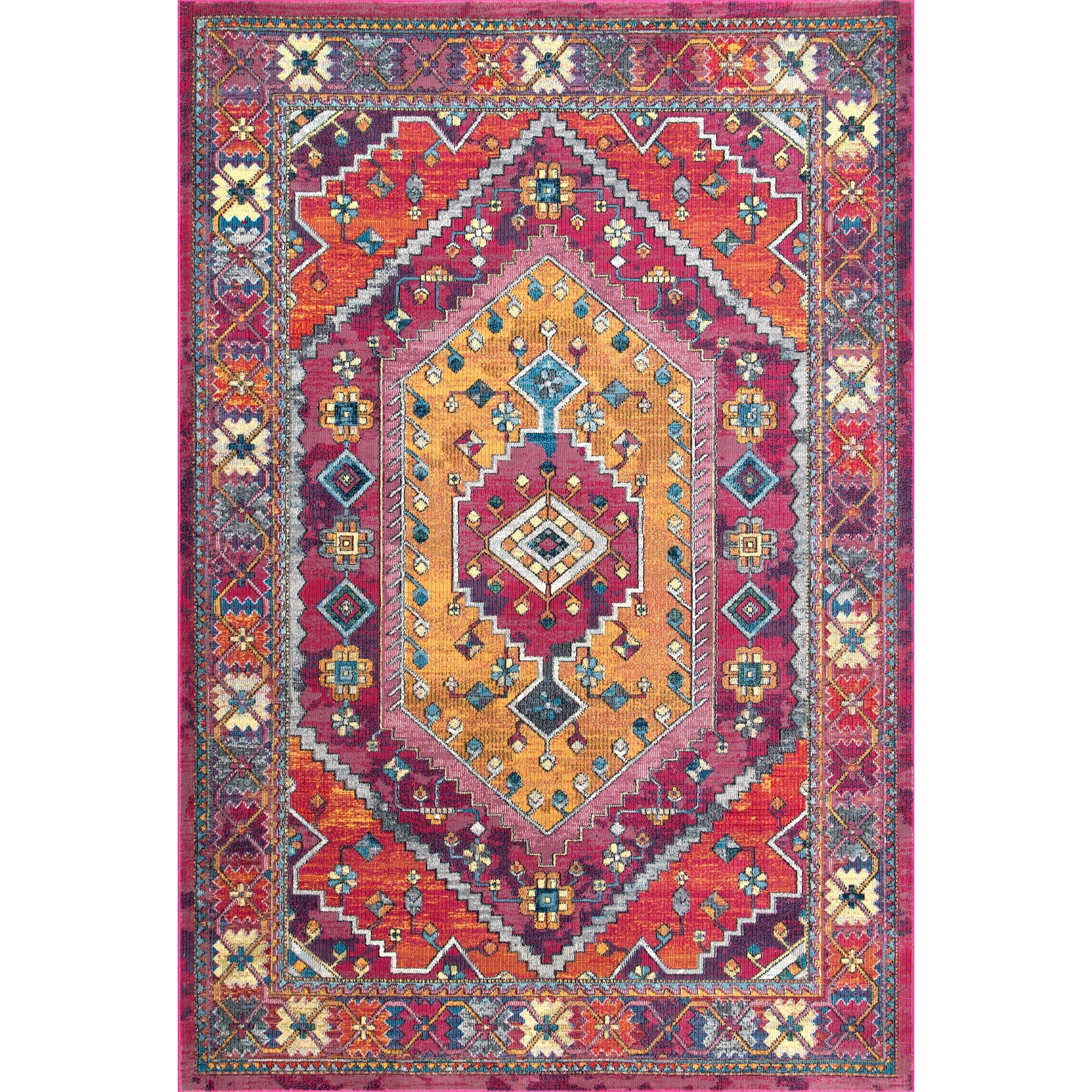 kilim rugsemilie rugs aztec pink home our runner carpet for rug emilie warmth color