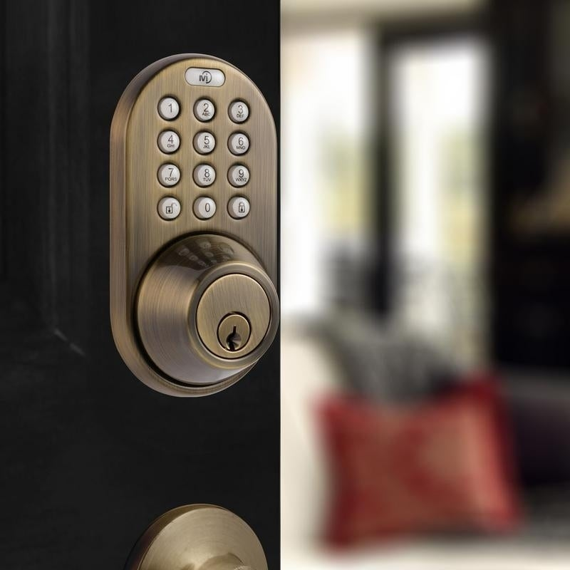 Shop Electronic Keyless Entry Touchpad Deadbolt Door Lock   On Sale   Free  Shipping Today   Overstock.com   20878604