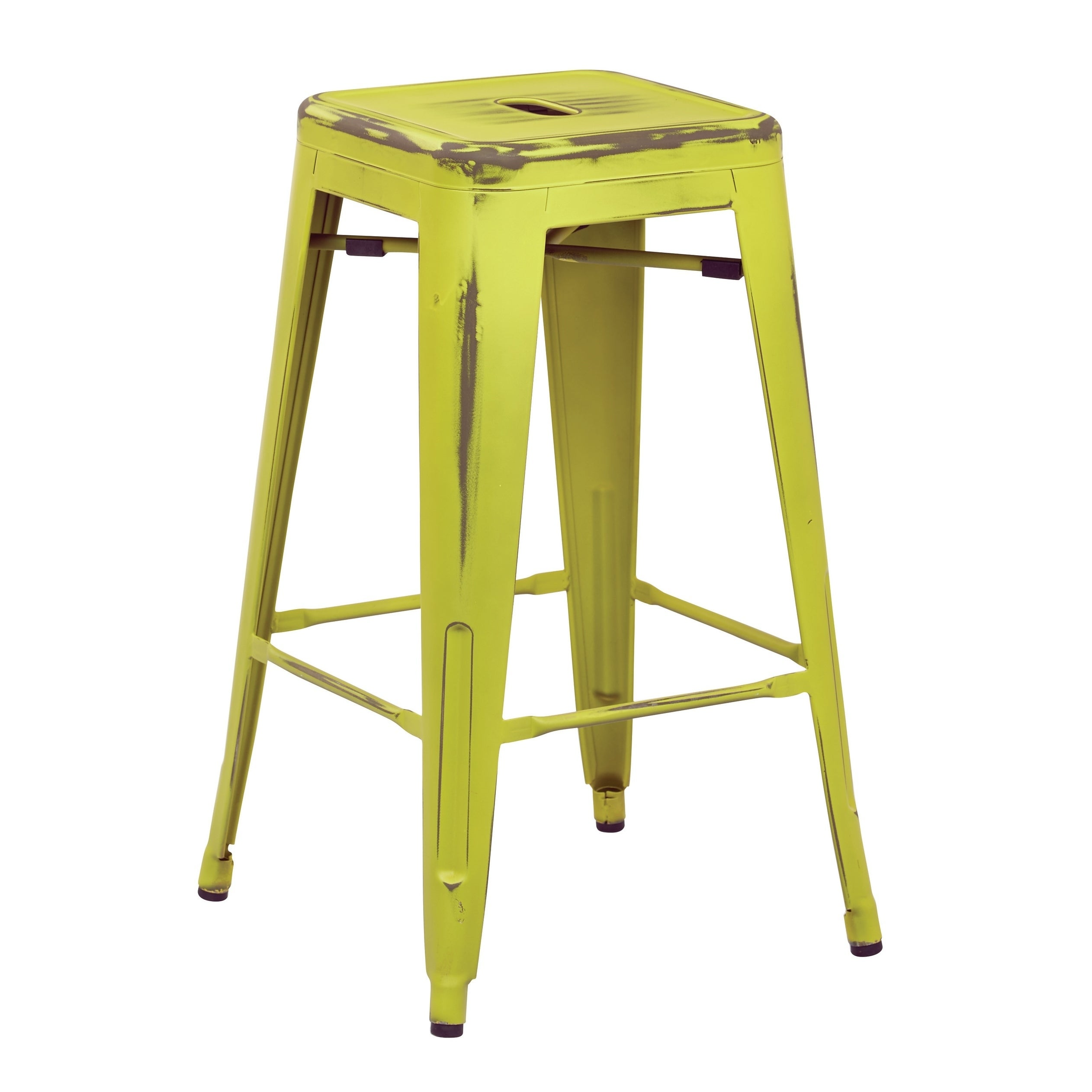 Osp Home Furnishings Bristow 26 Antique Metal Barstools Set Of 2 On Free Shipping Today 20879324