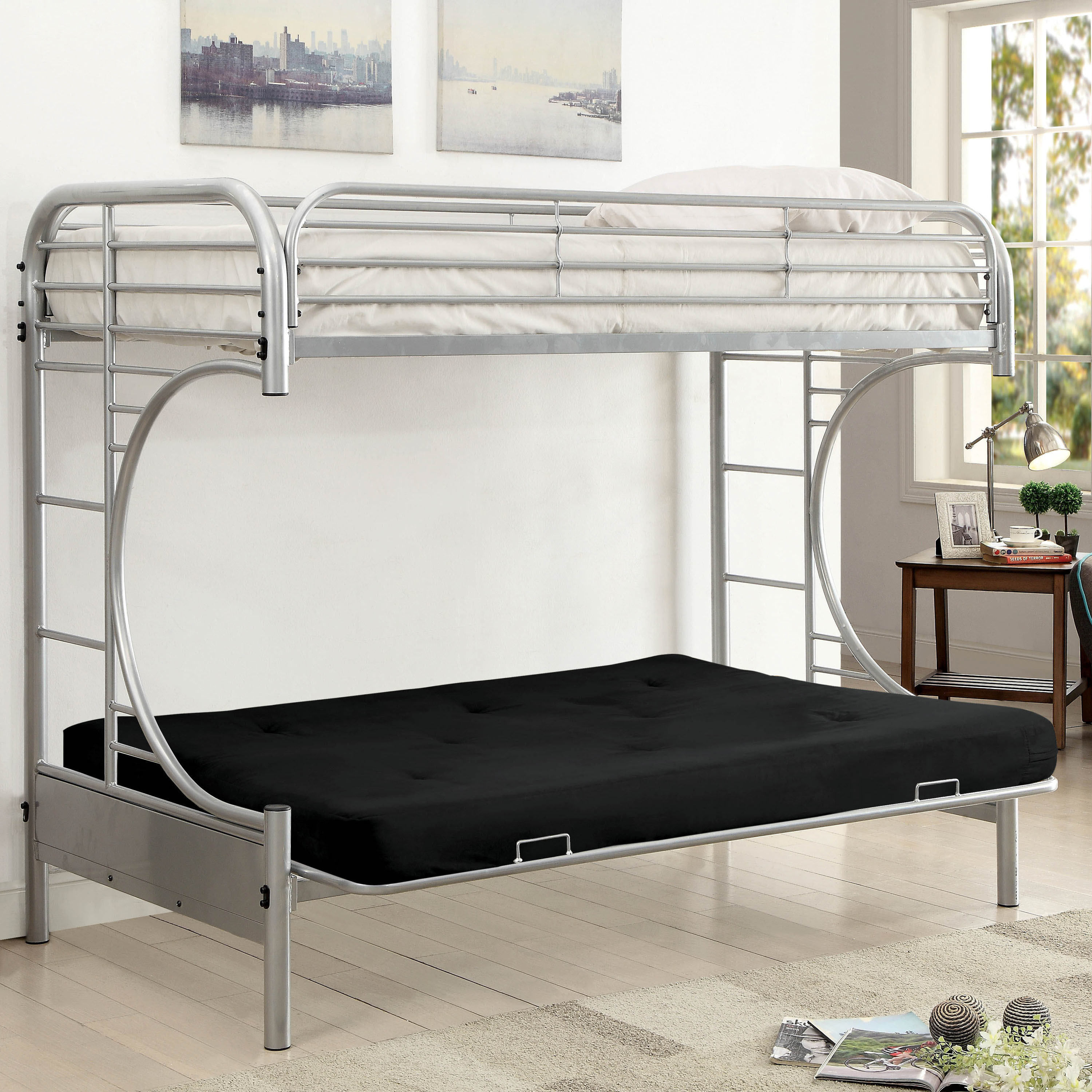 with garden futons product today base dante shipping contemporary loft home free of furniture overstock futon bunk bed america