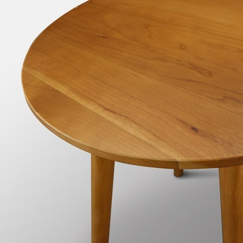 Shop Palm Canyon Julian Mid Century Modern Round Coffee Table With Solid  Cherry Wood Top   Free Shipping Today   Overstock.com   20881958