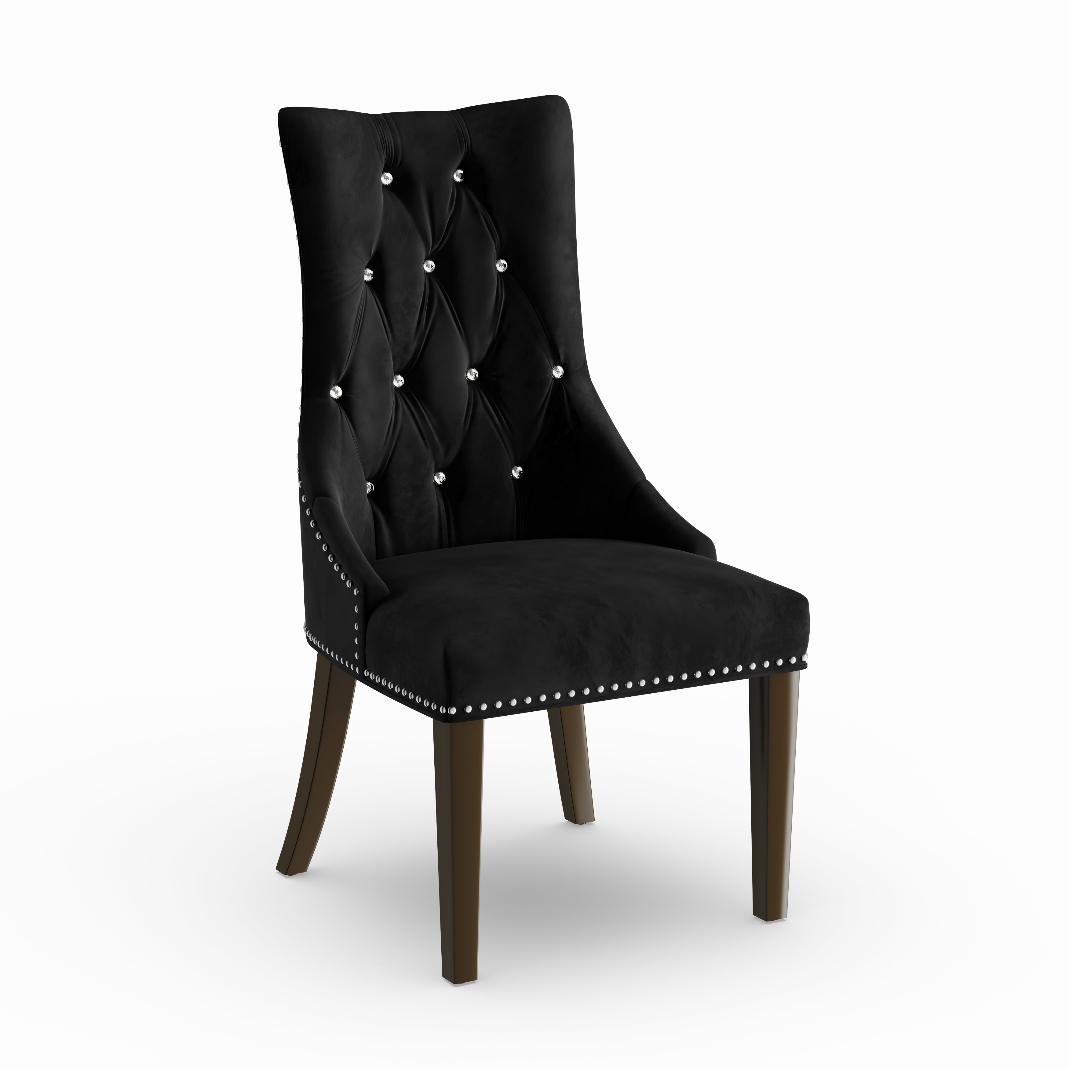 Shop silver orchid heston black velvet dining chair free shipping today overstock com 20882422