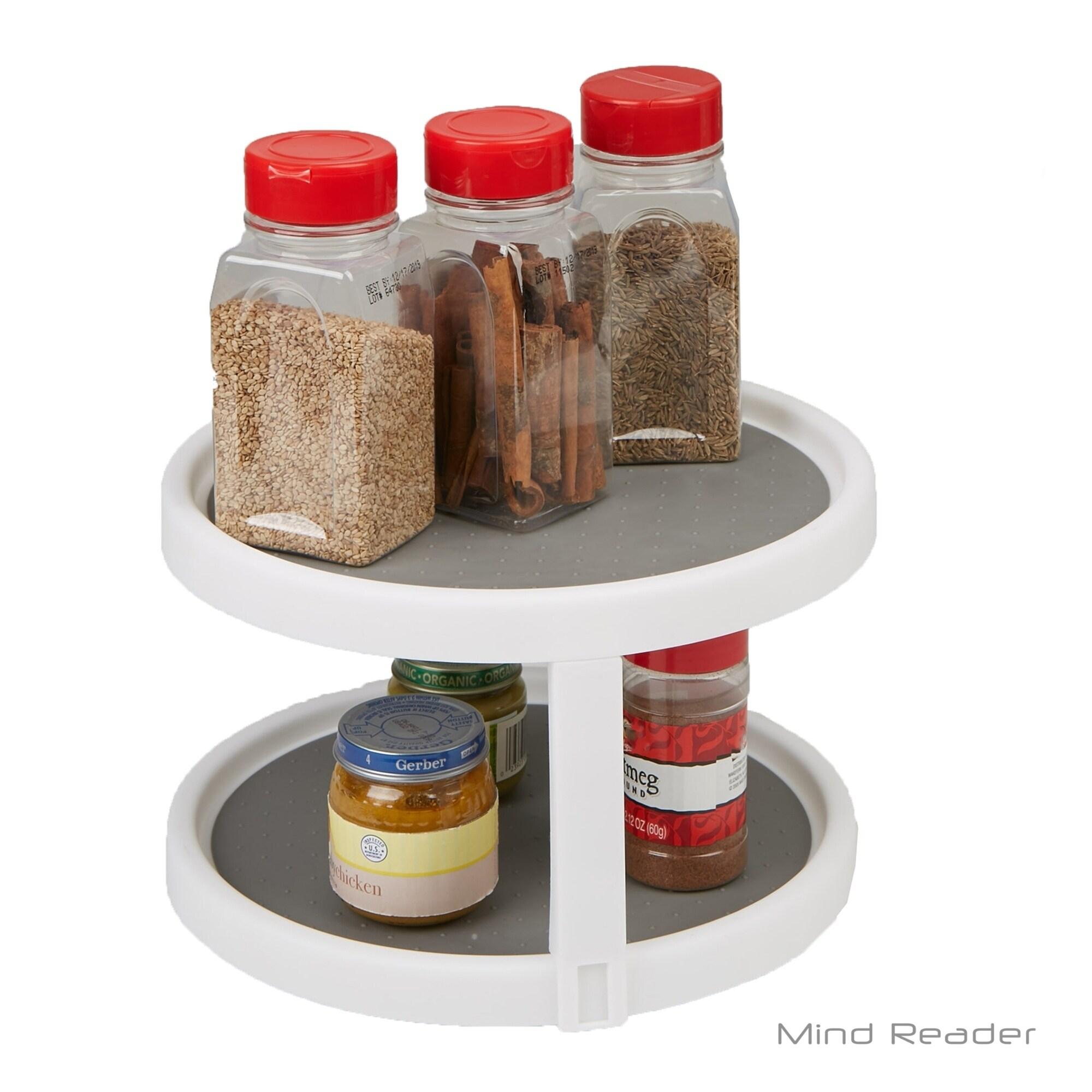 Shop Mind Reader 2 Tier Kitchen Storage Spice Rack Counter Top