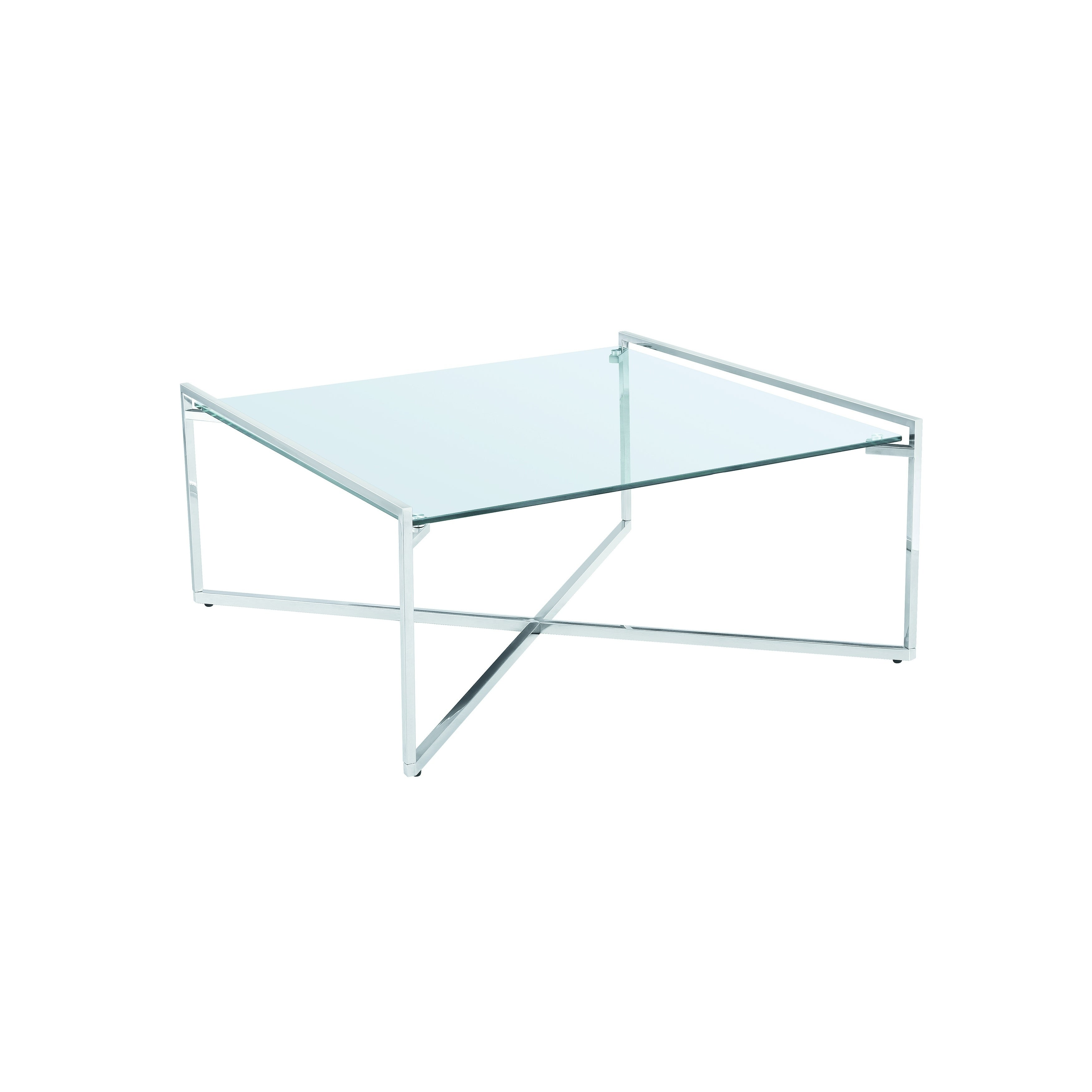 Shop Banner Modern Square Glass Metal Coffee Table Free Shipping