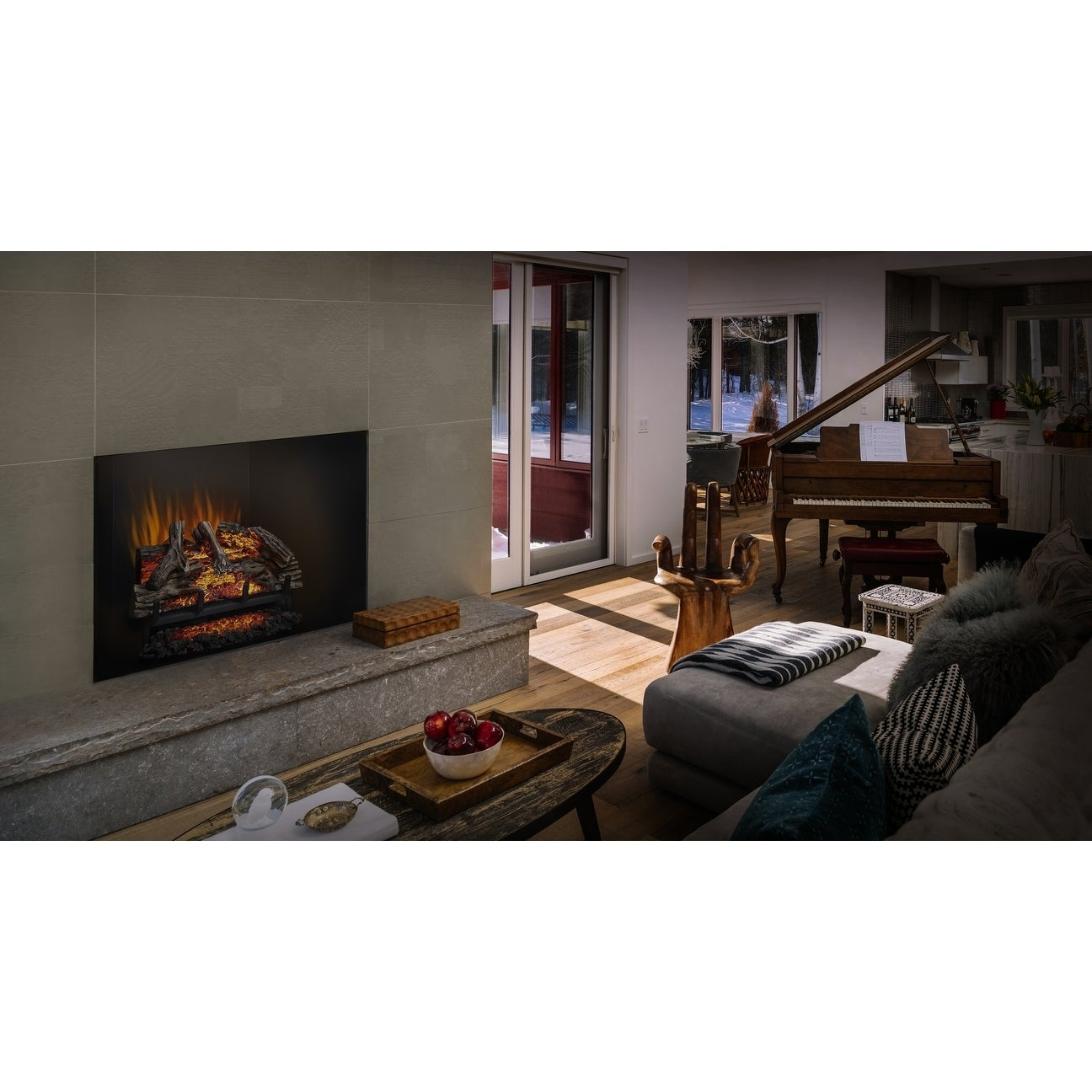 Tremendous Napoleon Woodland 27 Inch Electric Log Set Fireplace Insert With Remote Control Home Interior And Landscaping Eliaenasavecom