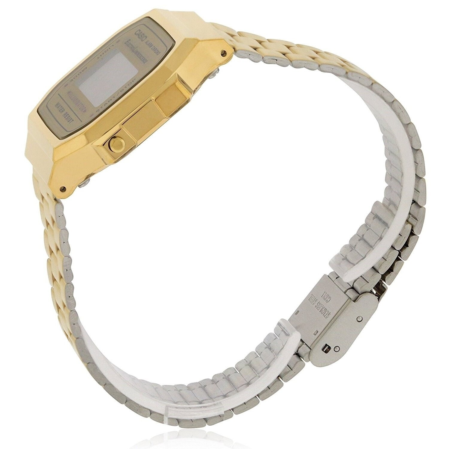 5d275b3bc Shop Casio Men's 'Vintage' Digital Illuminator Gold-Tone Stainless Steel  Watch - Free Shipping Today - Overstock - 20904268