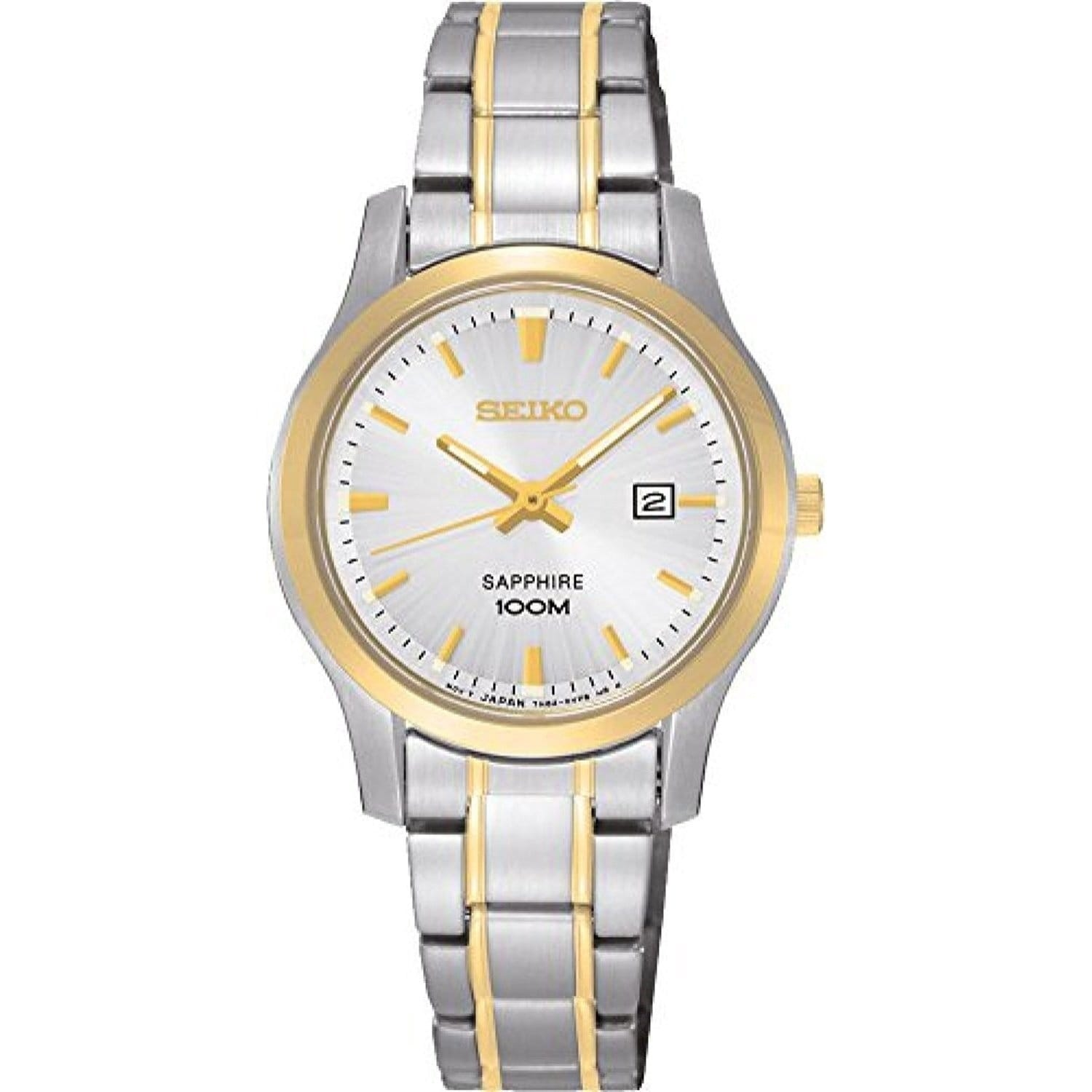1fe355aee64 Shop Seiko Women s Two-Tone Stainless Steel Watch - Free Shipping Today -  Overstock.com - 20904603