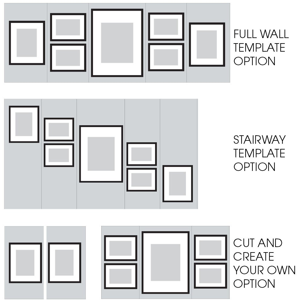 shop 7 piece greywash photo frame wall gallery kit with decorative
