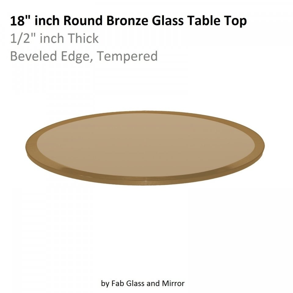 Attirant Shop Round Glass Table Top Bronze 1/2 Inch Thick Beveled Edge Tempered    Free Shipping Today   Overstock.com   20906013