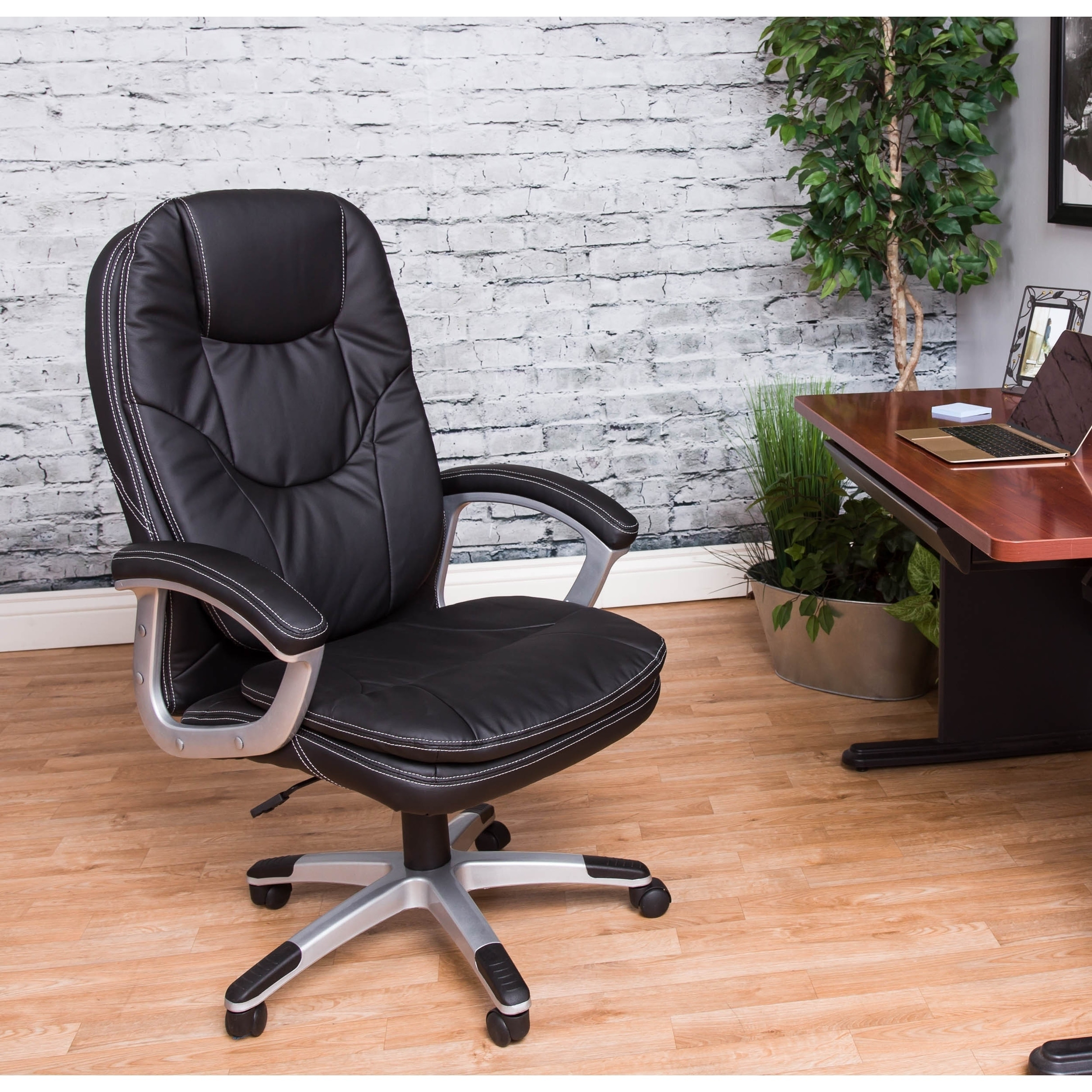 Shop vogue furniture direct modern high back executive chair black free shipping today overstock com 20908656