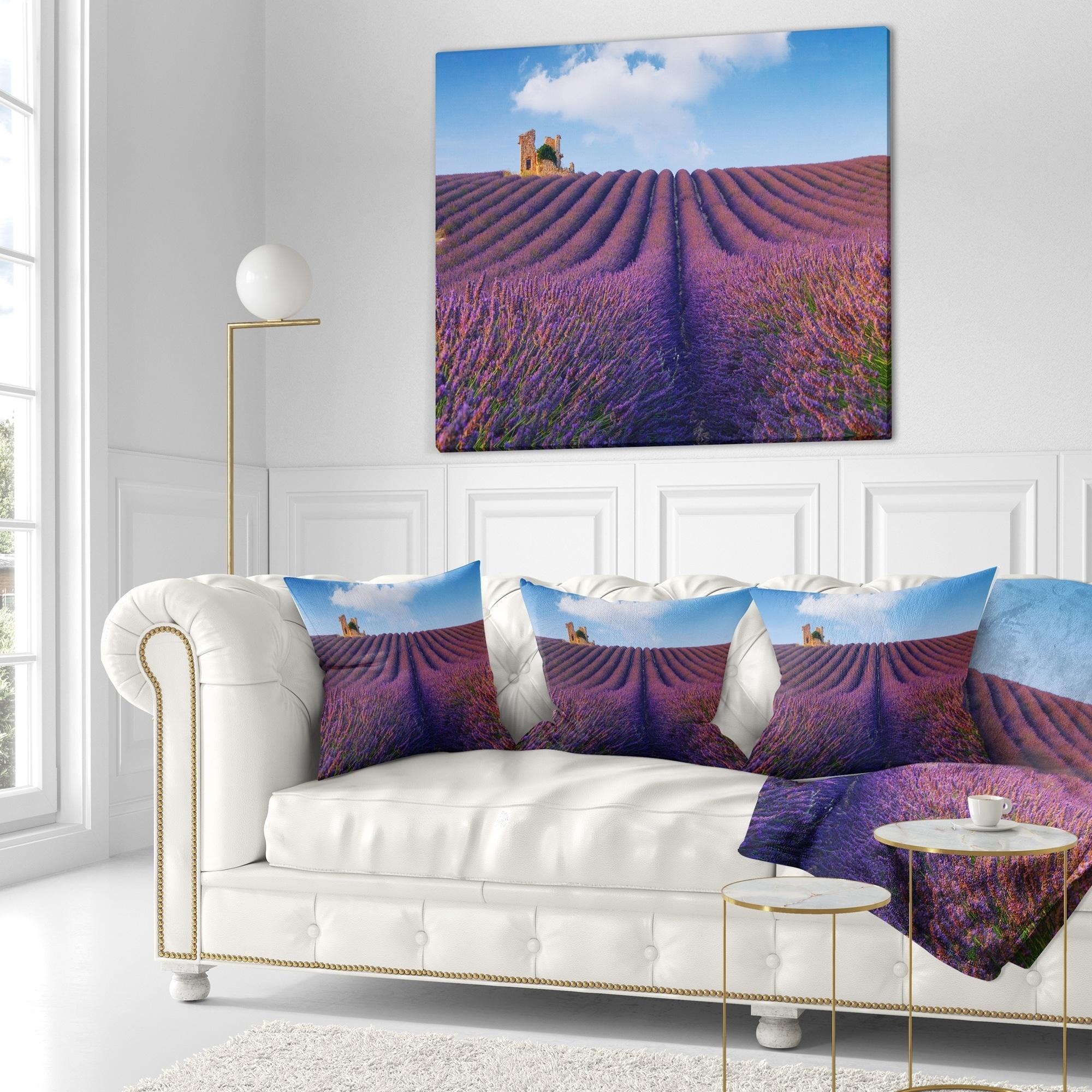 Shop Designart \'Purple Lavender Field\' Landscape Photography Throw ...