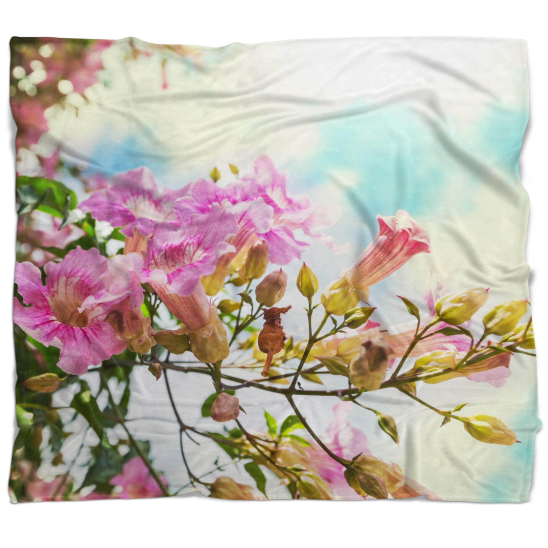 Shop designart pink flowers in hawaiian garden flower throw shop designart pink flowers in hawaiian garden flower throw blanket on sale free shipping today overstock 20916203 izmirmasajfo